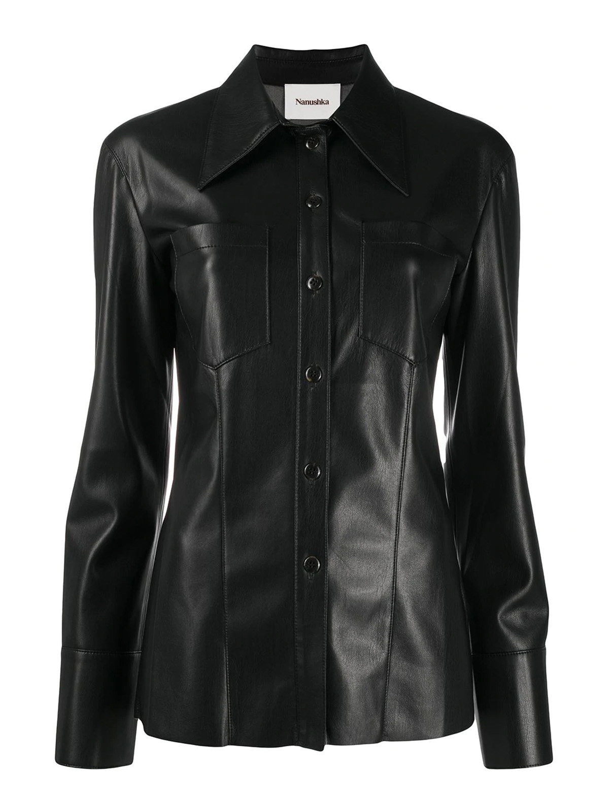 Nanushka Leathers VEGAN LEATHER SHIRT