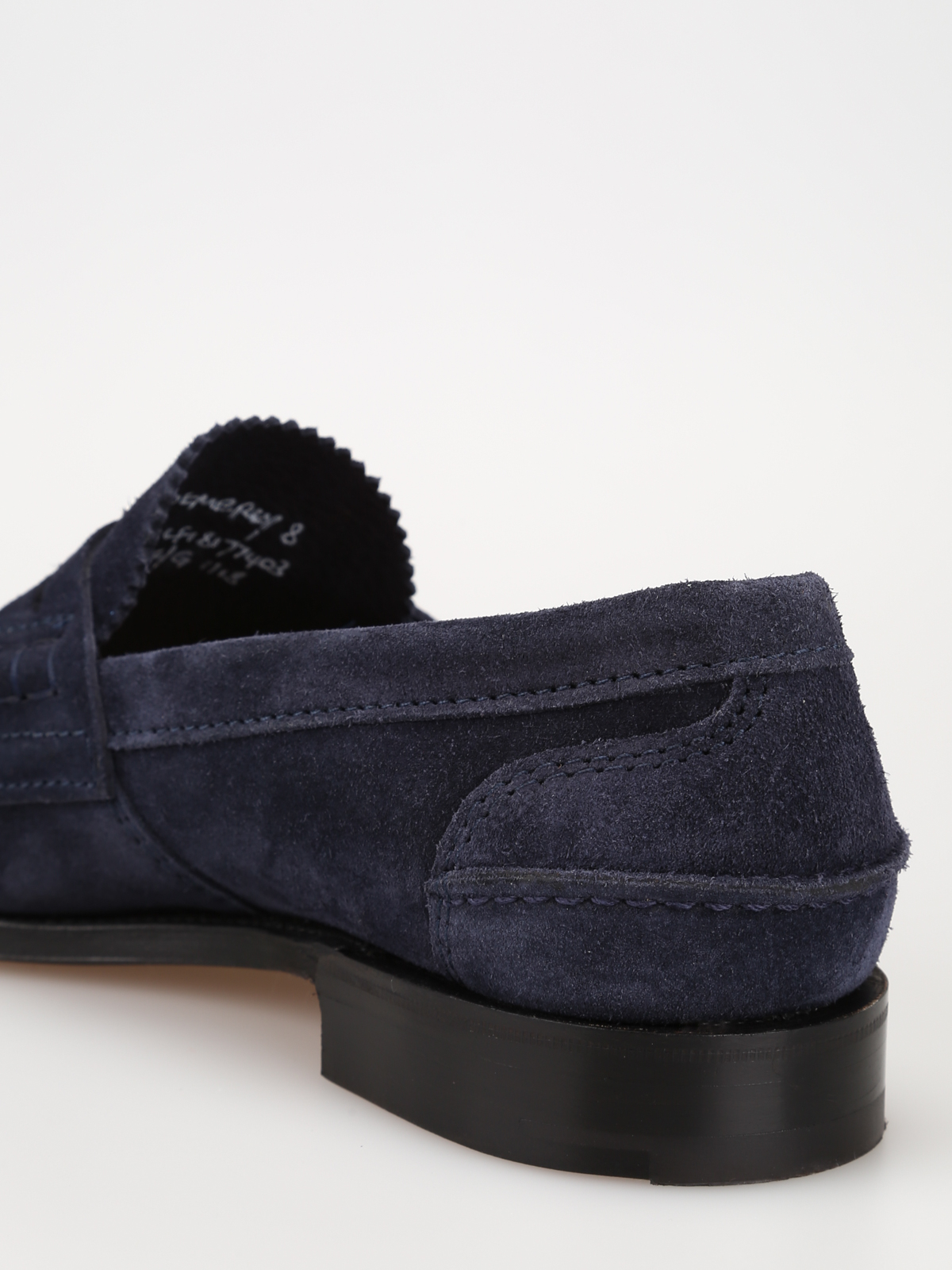 ab6d86e5f41 Church s - Navy blue Pembrey soft suede loafers - Loafers   Slippers ...
