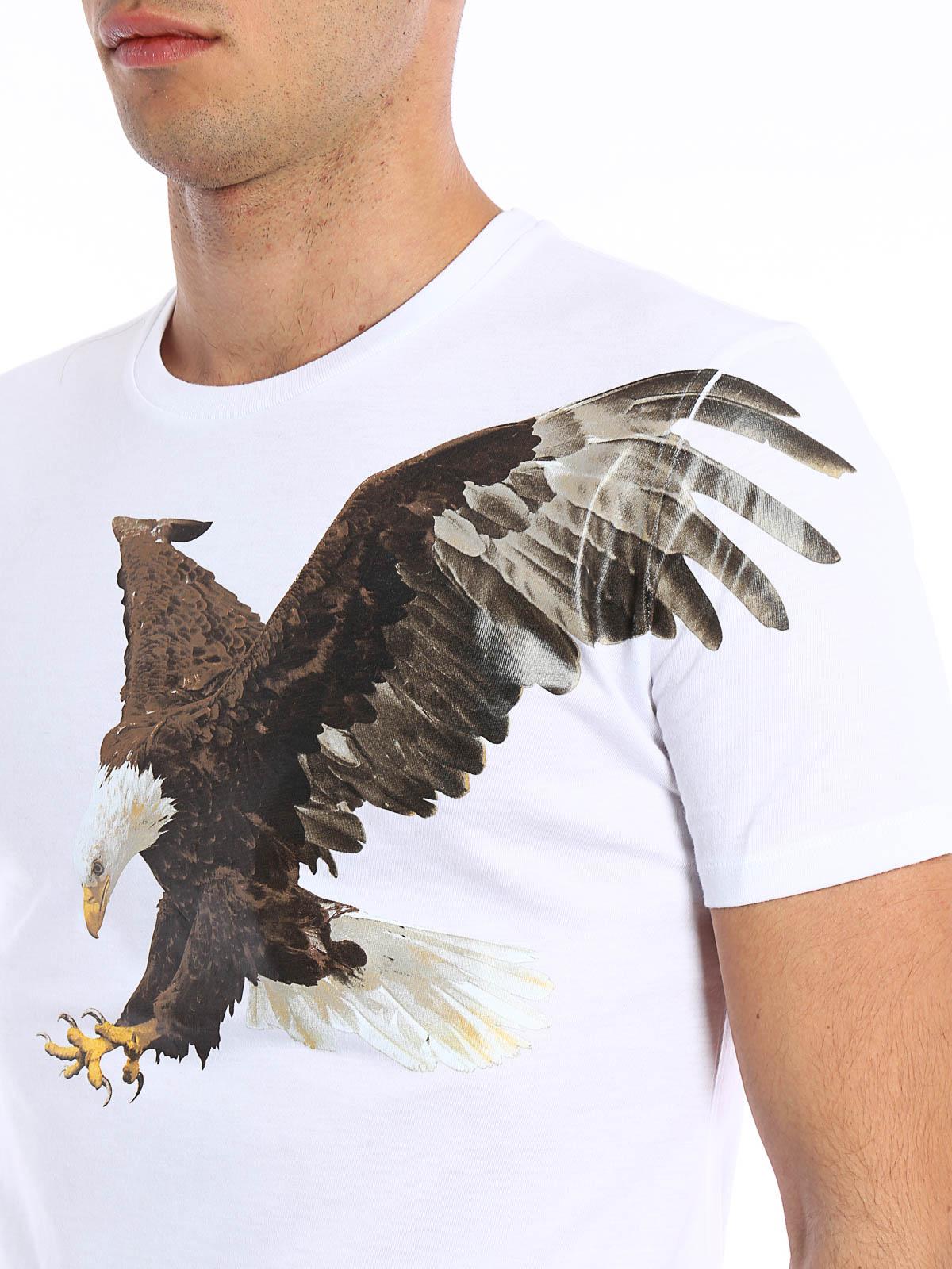 ebecd9ed Neil Barrett - Eagle print T-shirt - t-shirts - BJT171G B553S 03