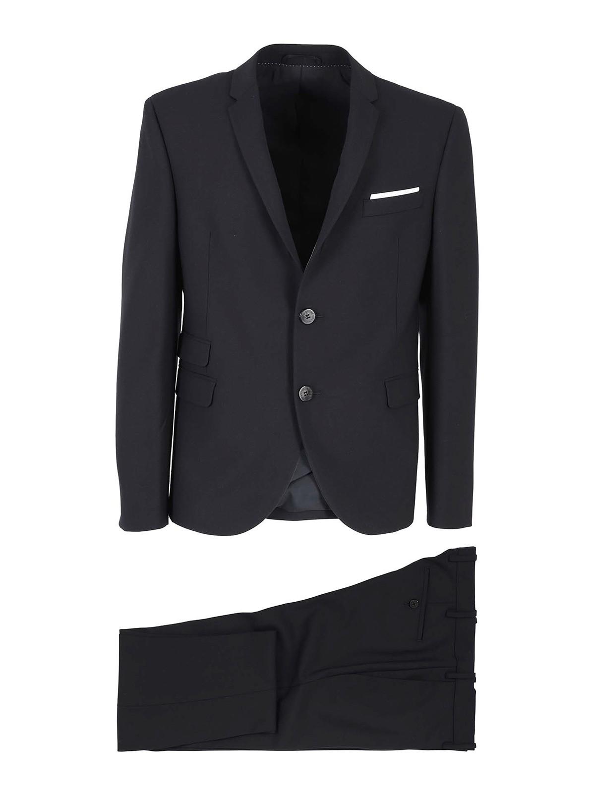 Neil Barrett Suits WOOL BLEND SUIT