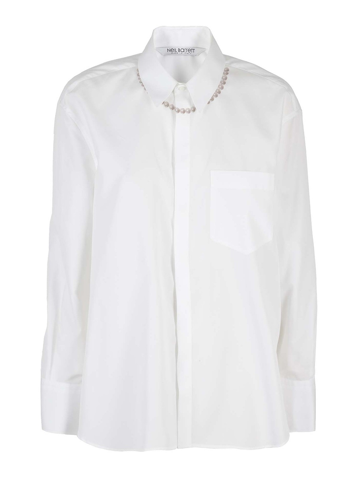 Neil Barrett Shirts BEADS EMBELLISHED SHIRT