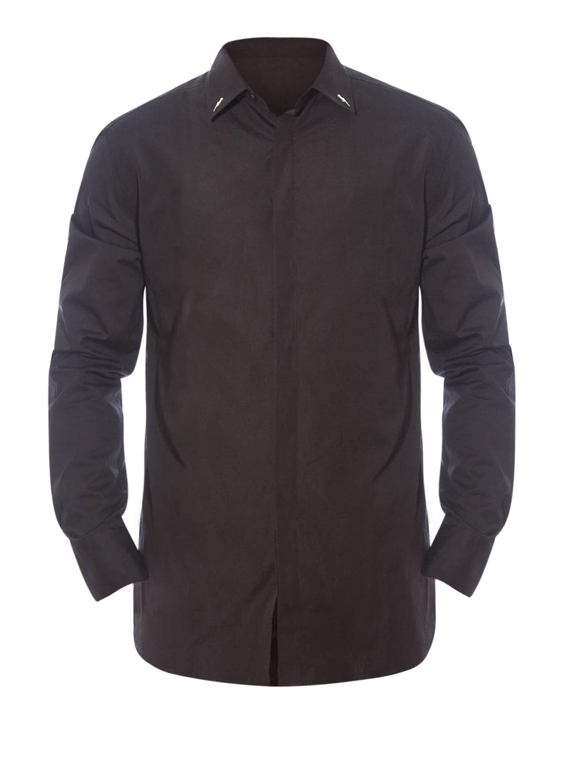 756e12c4c3be4 Neil Barrett - Camisa Negra Para Hombre - Camisas - PBCM527S A022C 01