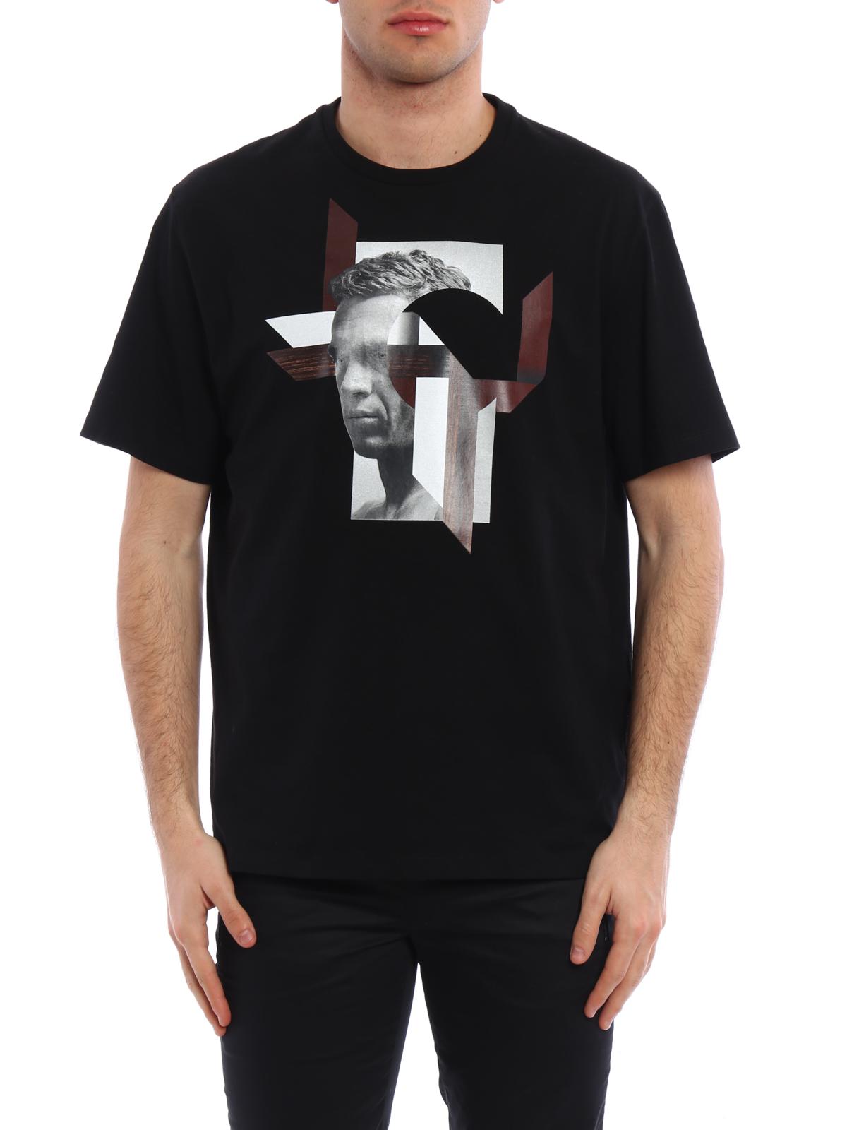 modernist steve mcqueen t shirt by neil barrett t shirts. Black Bedroom Furniture Sets. Home Design Ideas