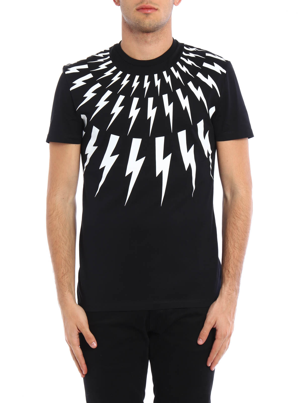 thunderbolt print t shirt by neil barrett t shirts ikrix. Black Bedroom Furniture Sets. Home Design Ideas