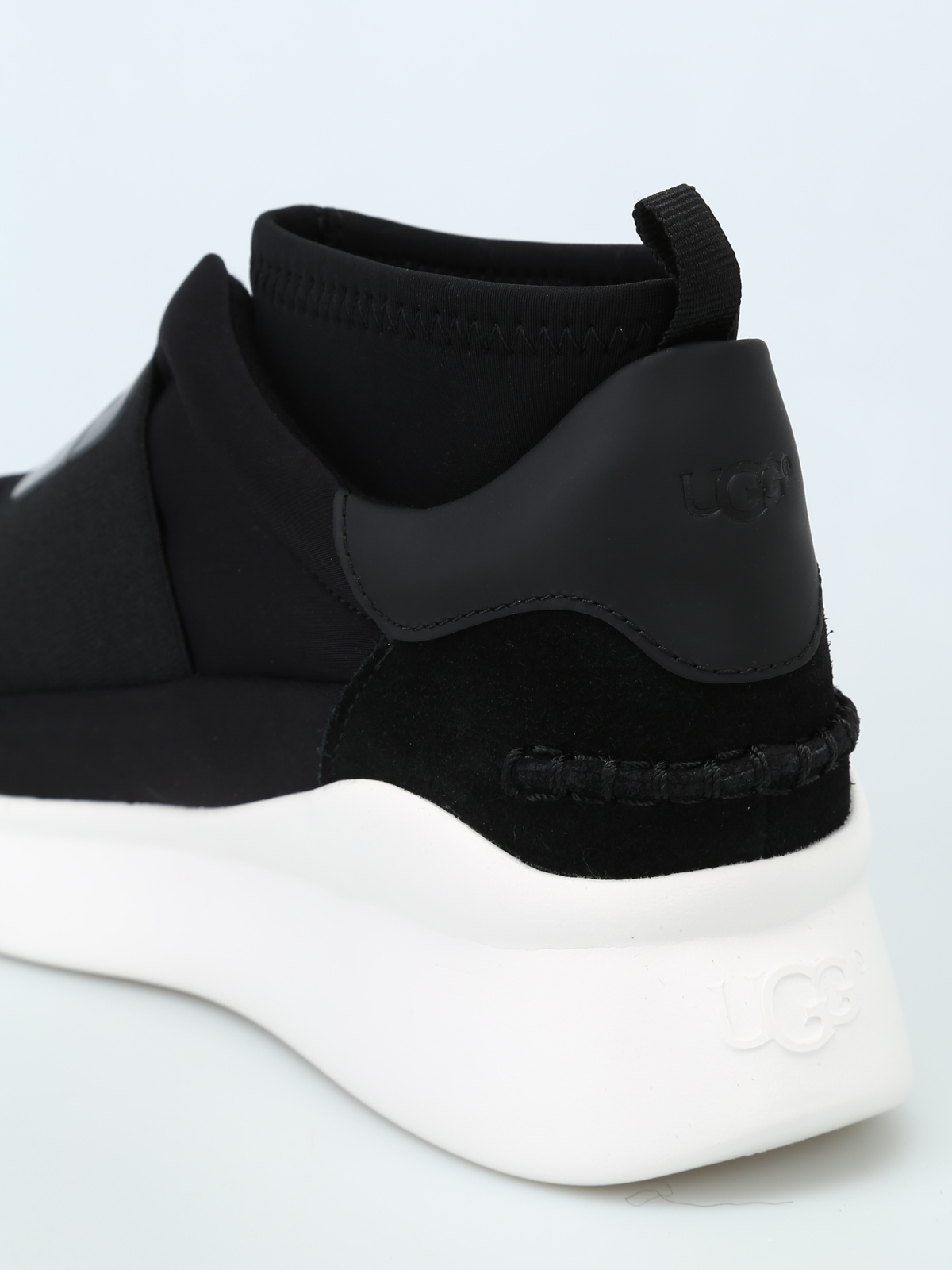 82304a19045 Ugg - Neutra black sock style mid top sneakers - trainers - 1095097 ...