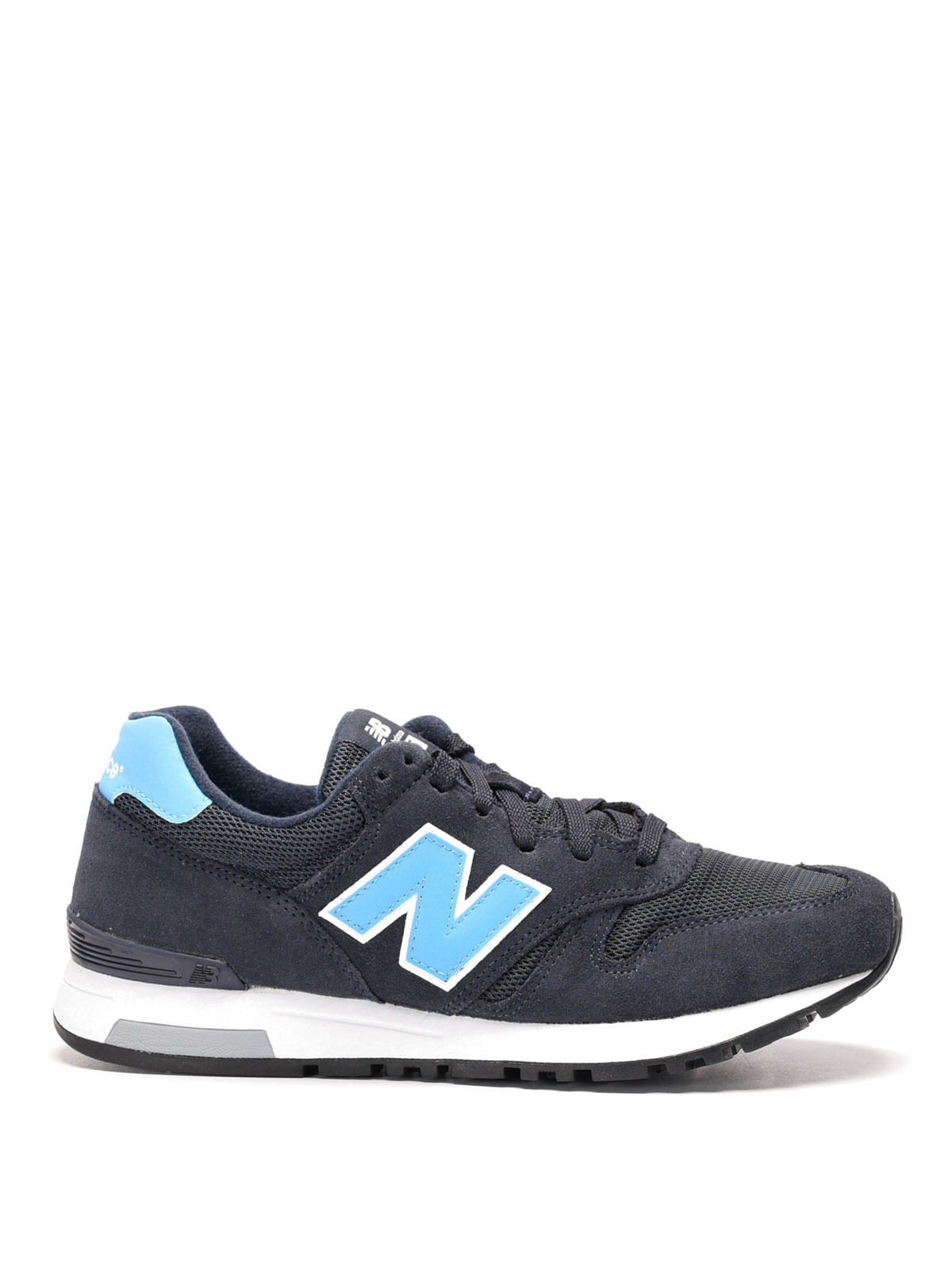565 suede and techno mesh sneakers by new balance. Black Bedroom Furniture Sets. Home Design Ideas