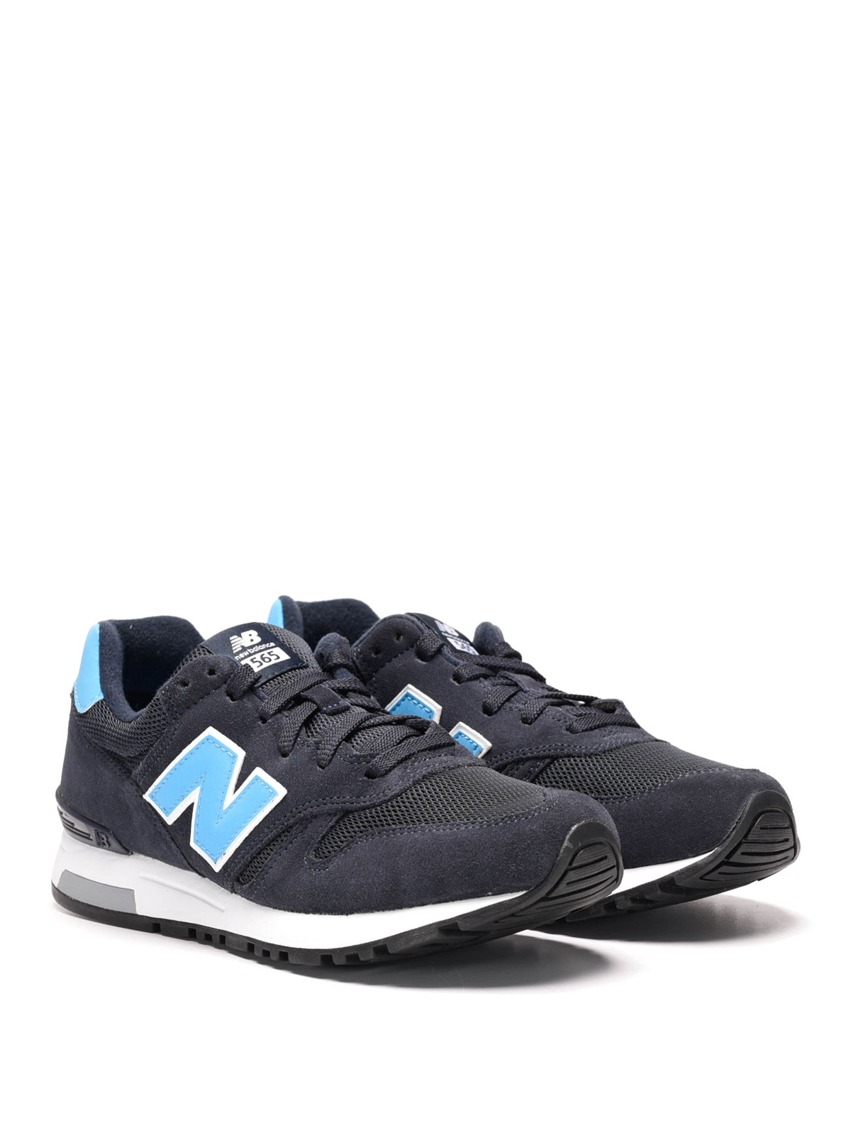 565 suede and techno mesh sneakers by new balance trainers ikrix. Black Bedroom Furniture Sets. Home Design Ideas