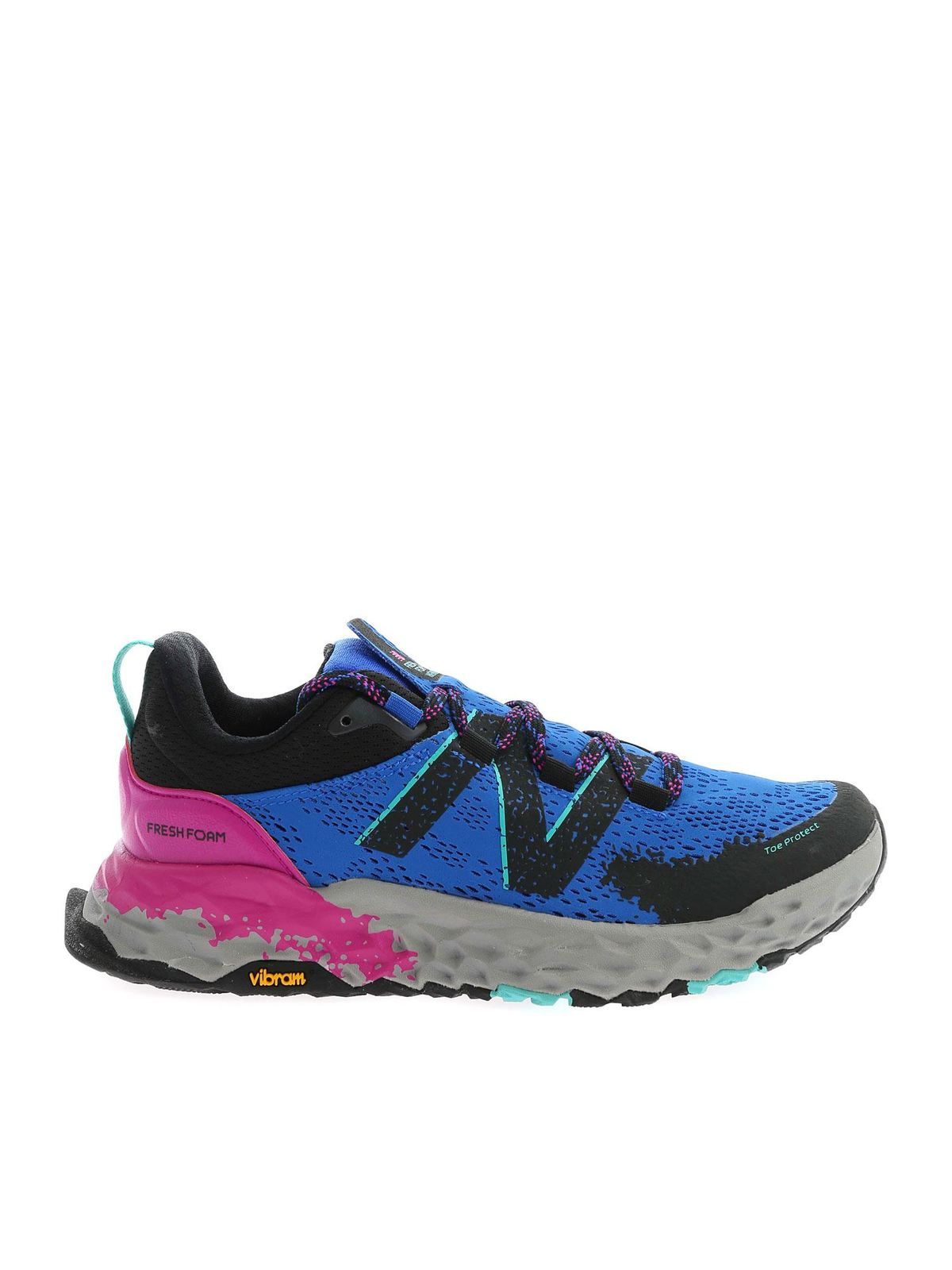 New Balance PAINTED EFFECT SNEAKERS IN BLUE AND BLACK