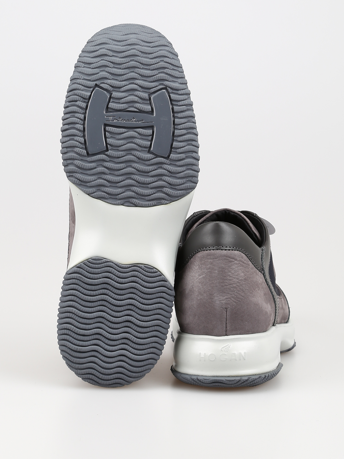 Sneakers Hogan - Sneaker New Interactive grigie e blu ...