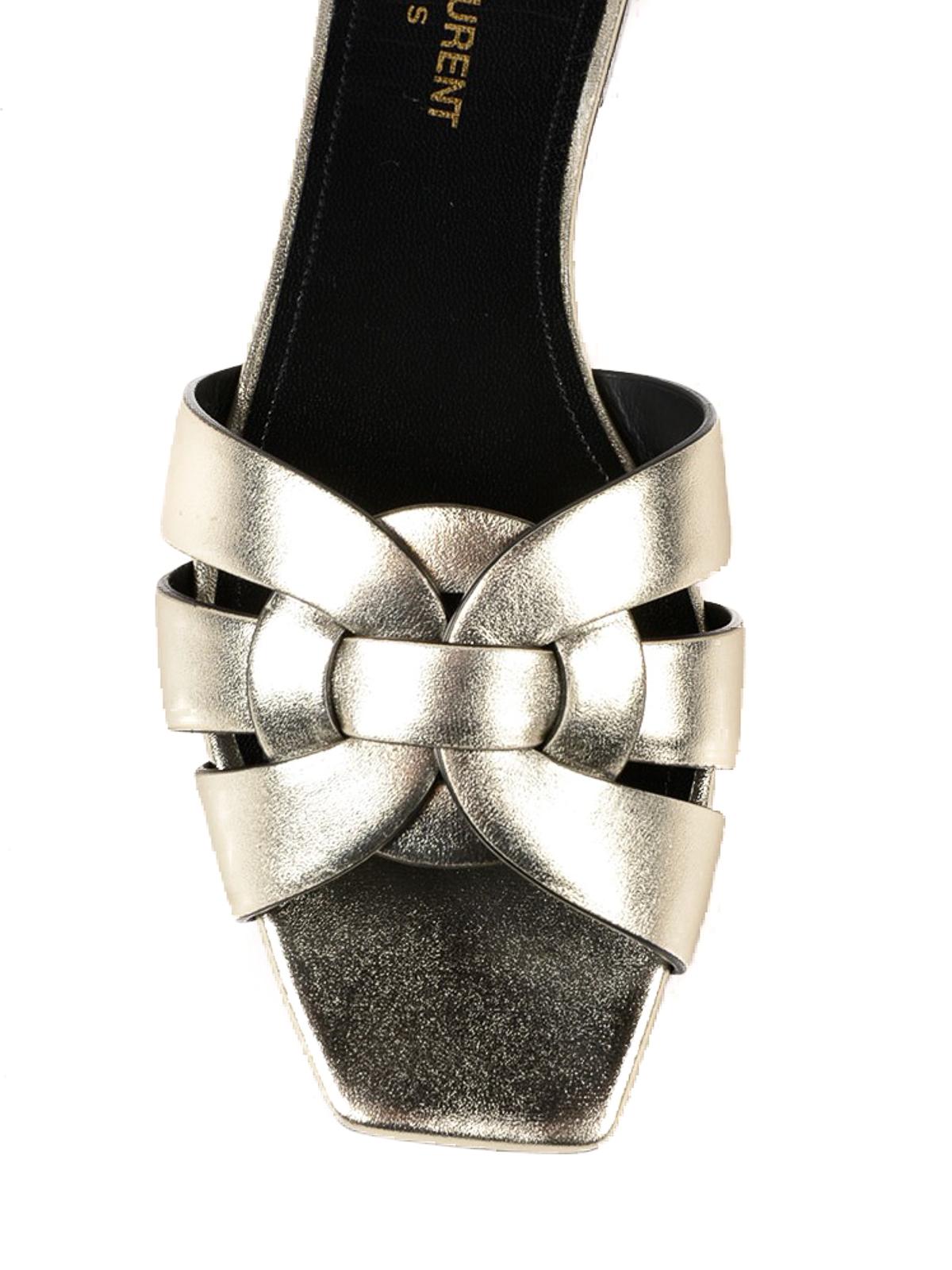 af225059183 Saint Laurent - Nu Pieds Tribute flat slide sandals - sandals ...