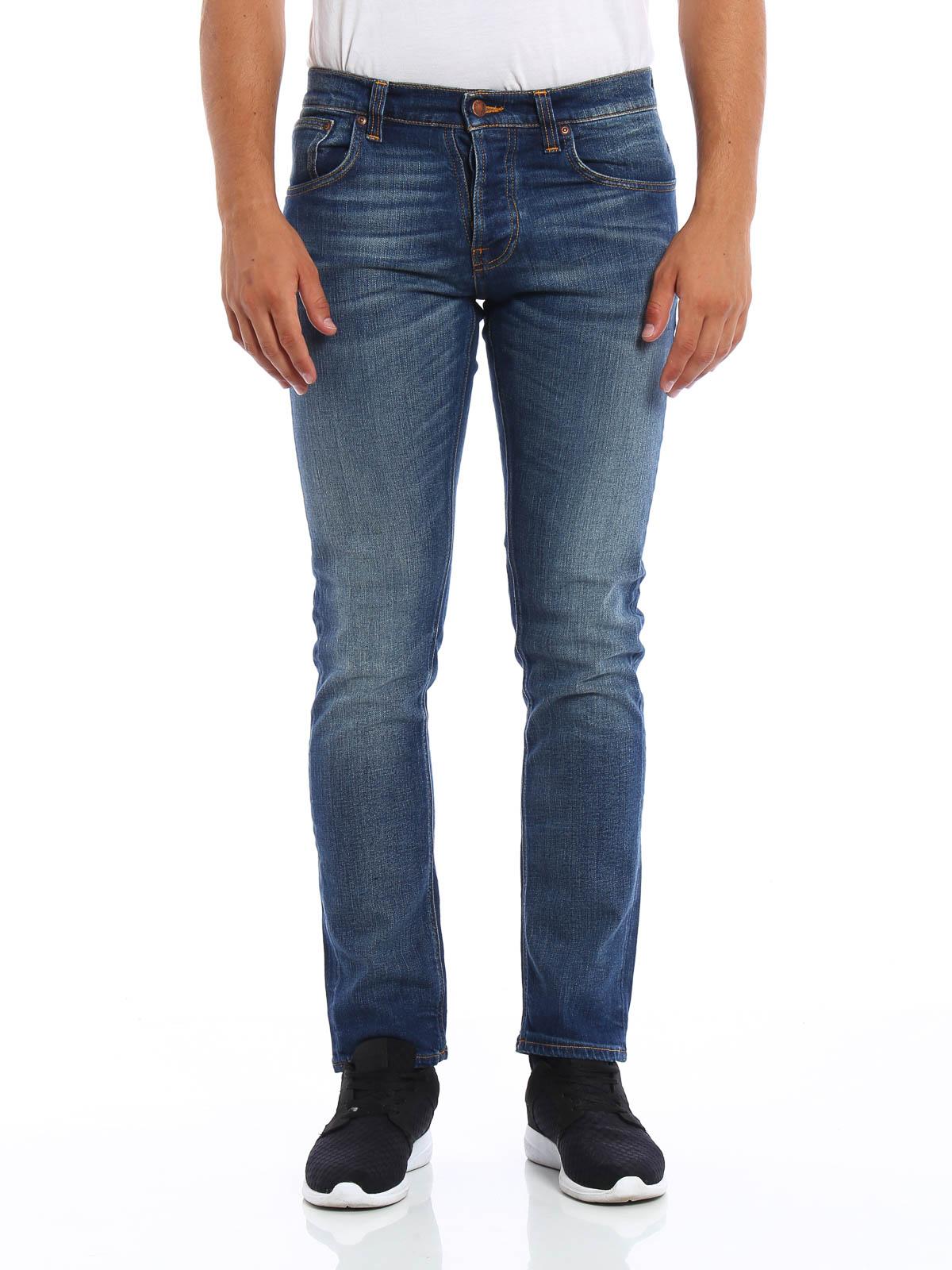 grim tim jeans by nudie jeans straight leg jeans shop online at. Black Bedroom Furniture Sets. Home Design Ideas
