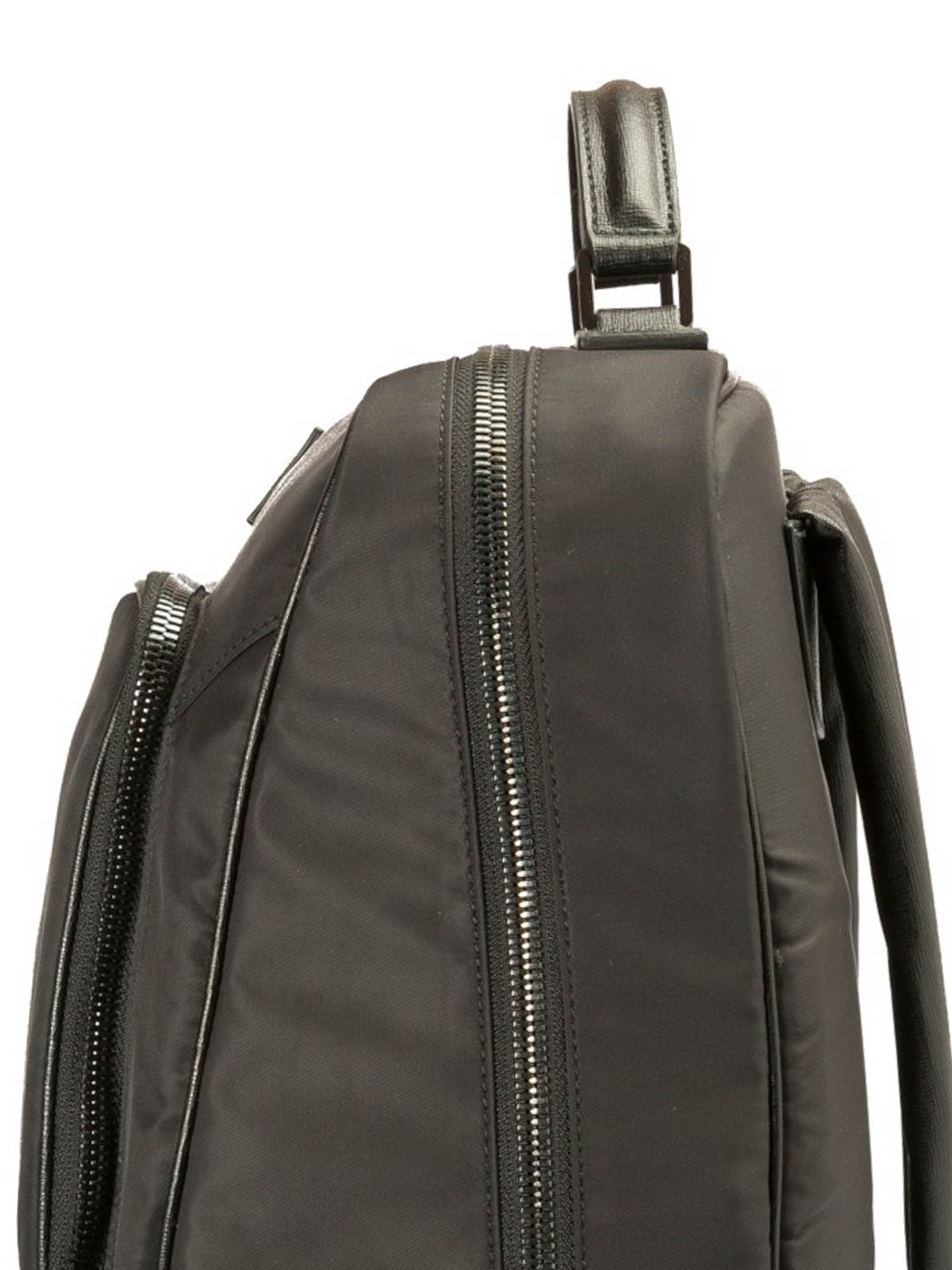 Versace Collection - Nylon and leather backpack - backpacks ... 9167ea02f66d4