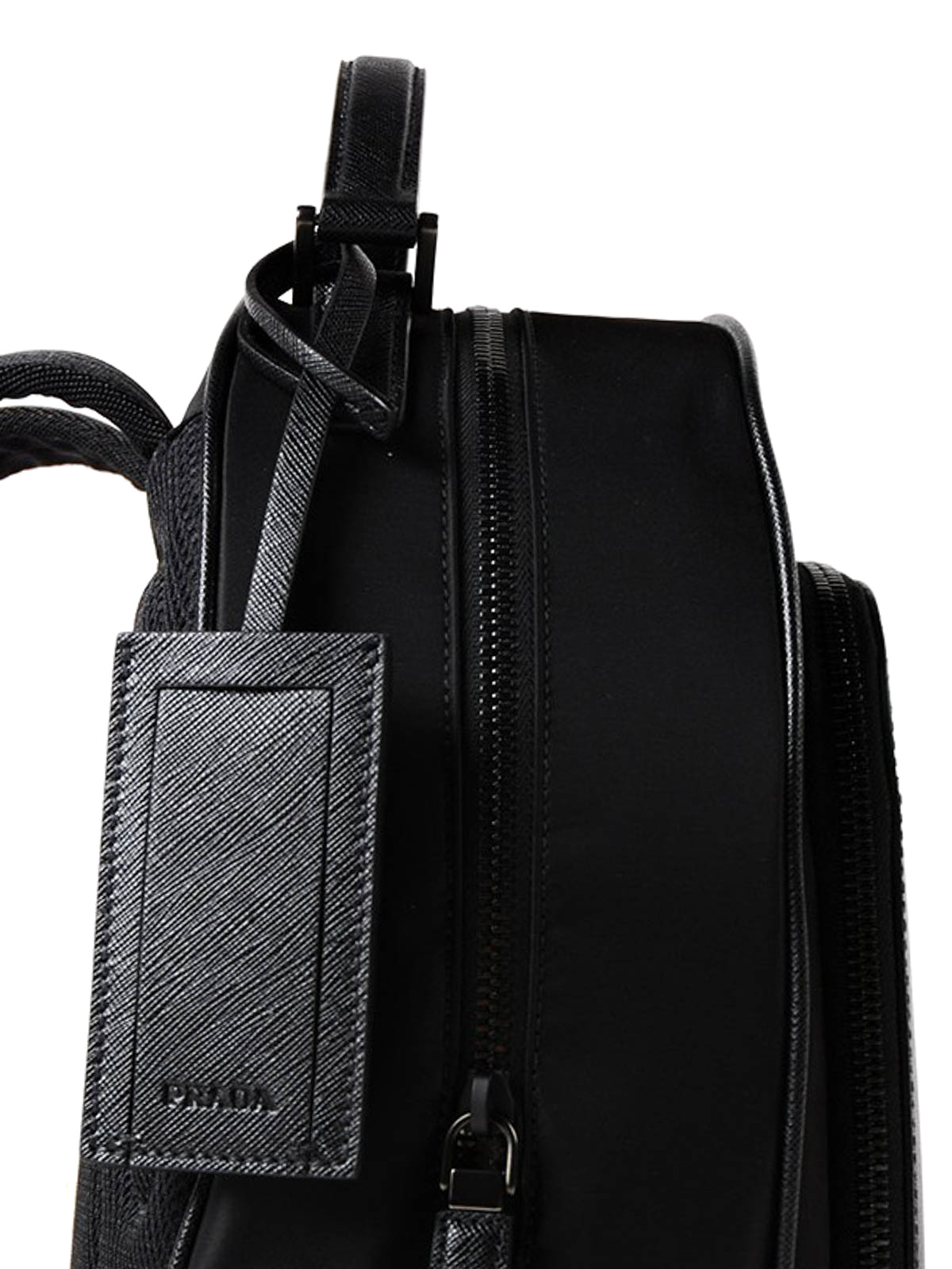 f4a00b400c36 Prada - Nylon and saffiano leather backpack - backpacks - 2VZ011064002