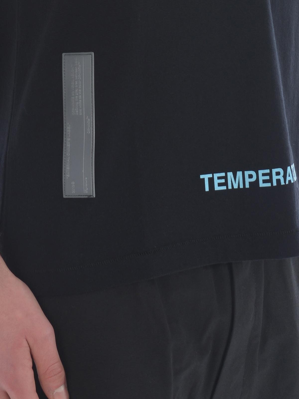 2cd683650d44 Off-White - Firetape black slim fit T-shirt - t-shirts ...