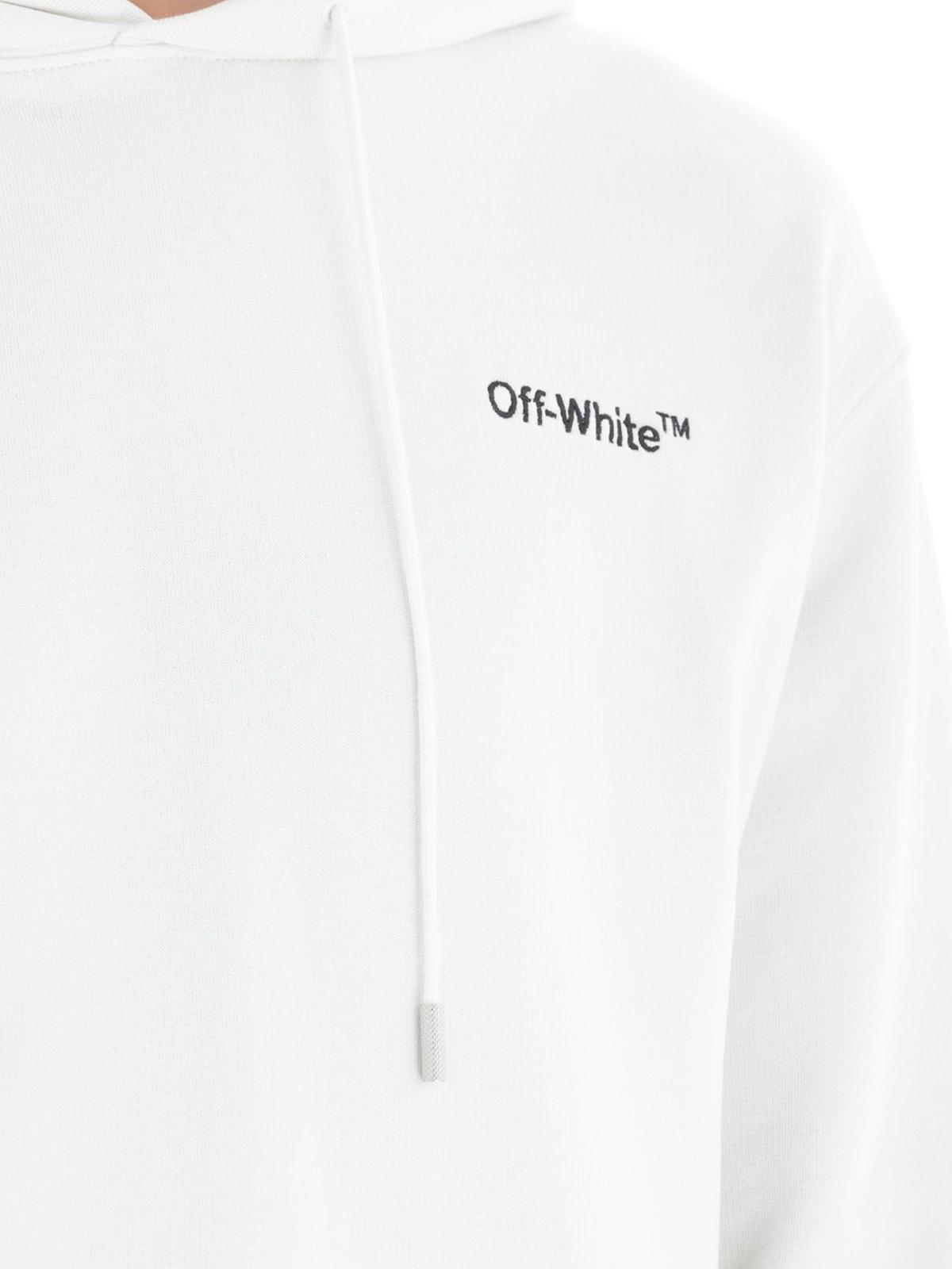 codice promozionale 93f56 102aa Off-White - Felpa Off-White™ bianca - Felpe e maglie ...