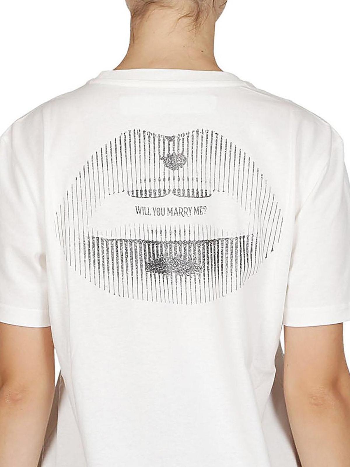 cf85745764ed Off-White - Printed cotton basic long white Tee - t-shirts ...