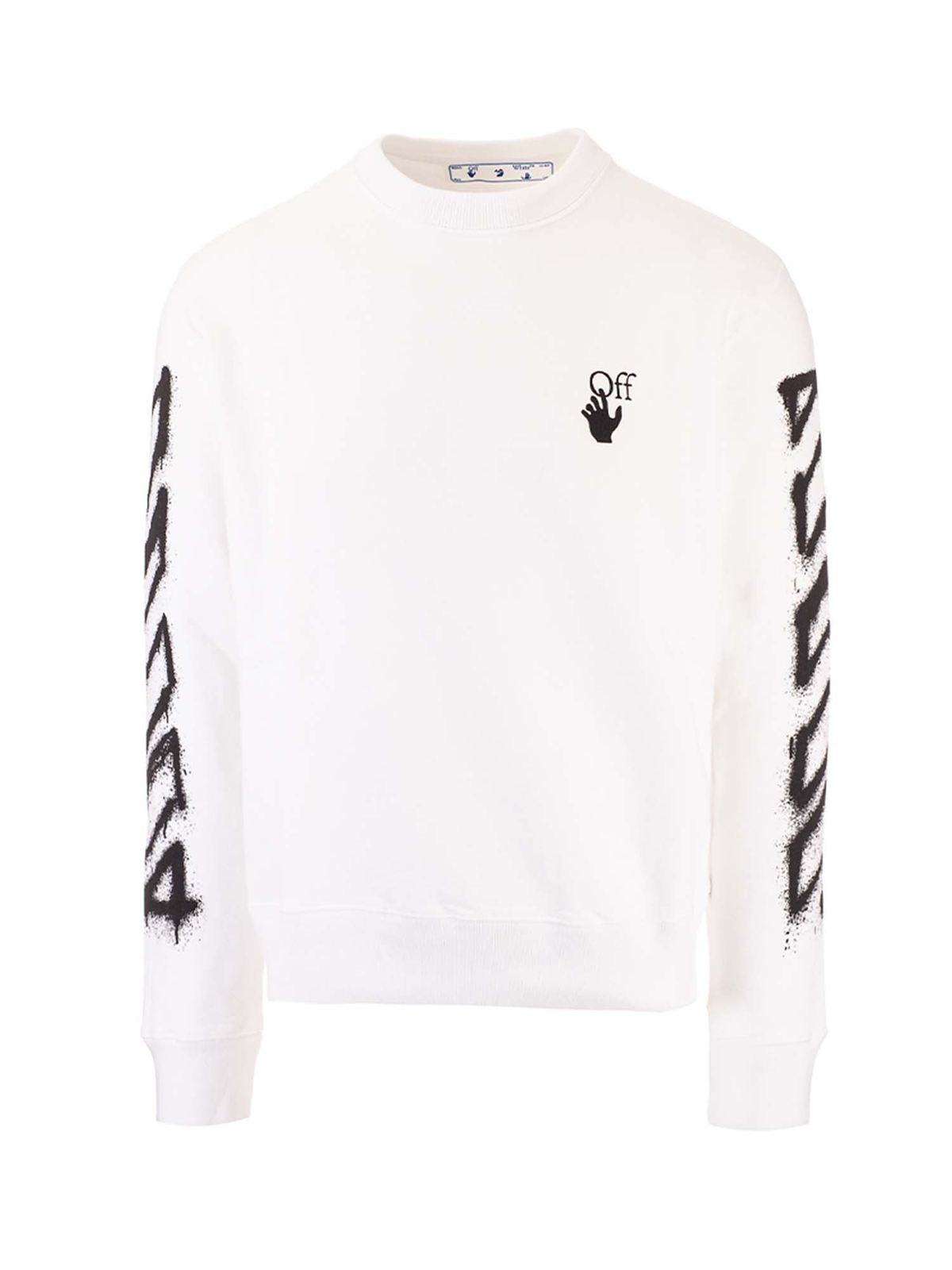 Off-White ARROW PRINTED SWEATER IN WHITE