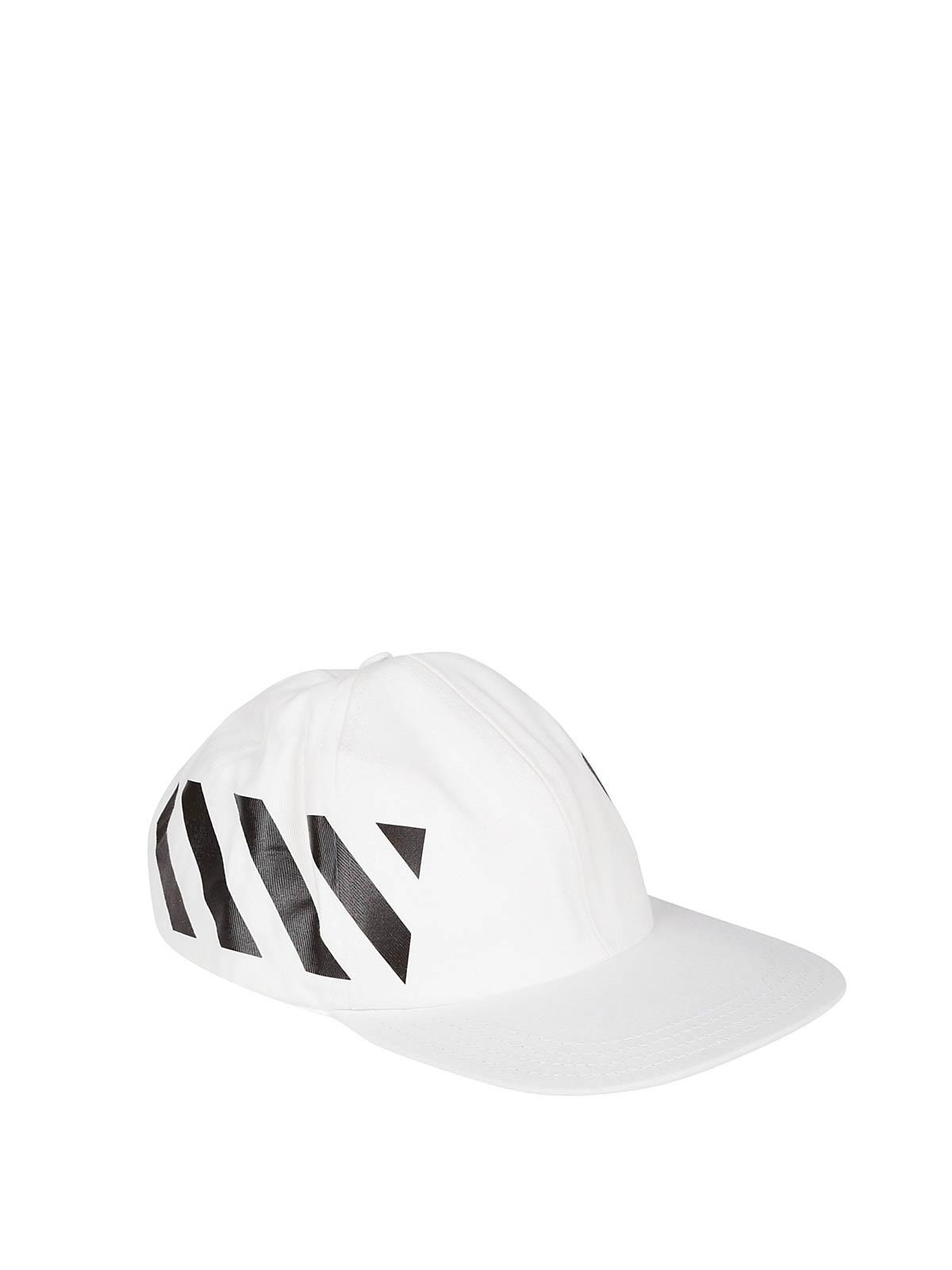 a9620eea1 Off-White - Diag white baseball cap - hats & caps - OMLB008R194000320210