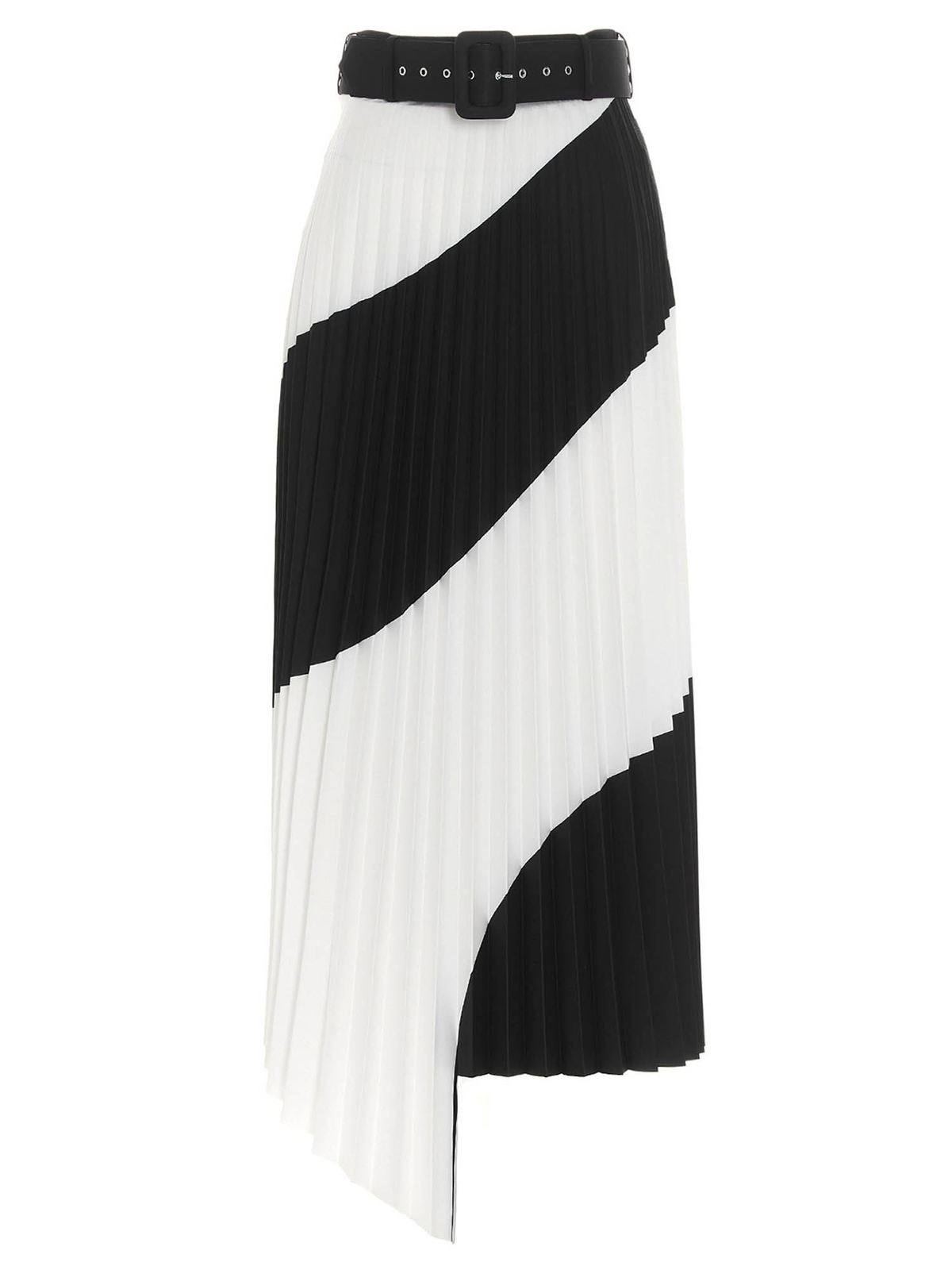 Off-White Pleated skirts PLEATED SKIRT IN WHITE AND BLACK