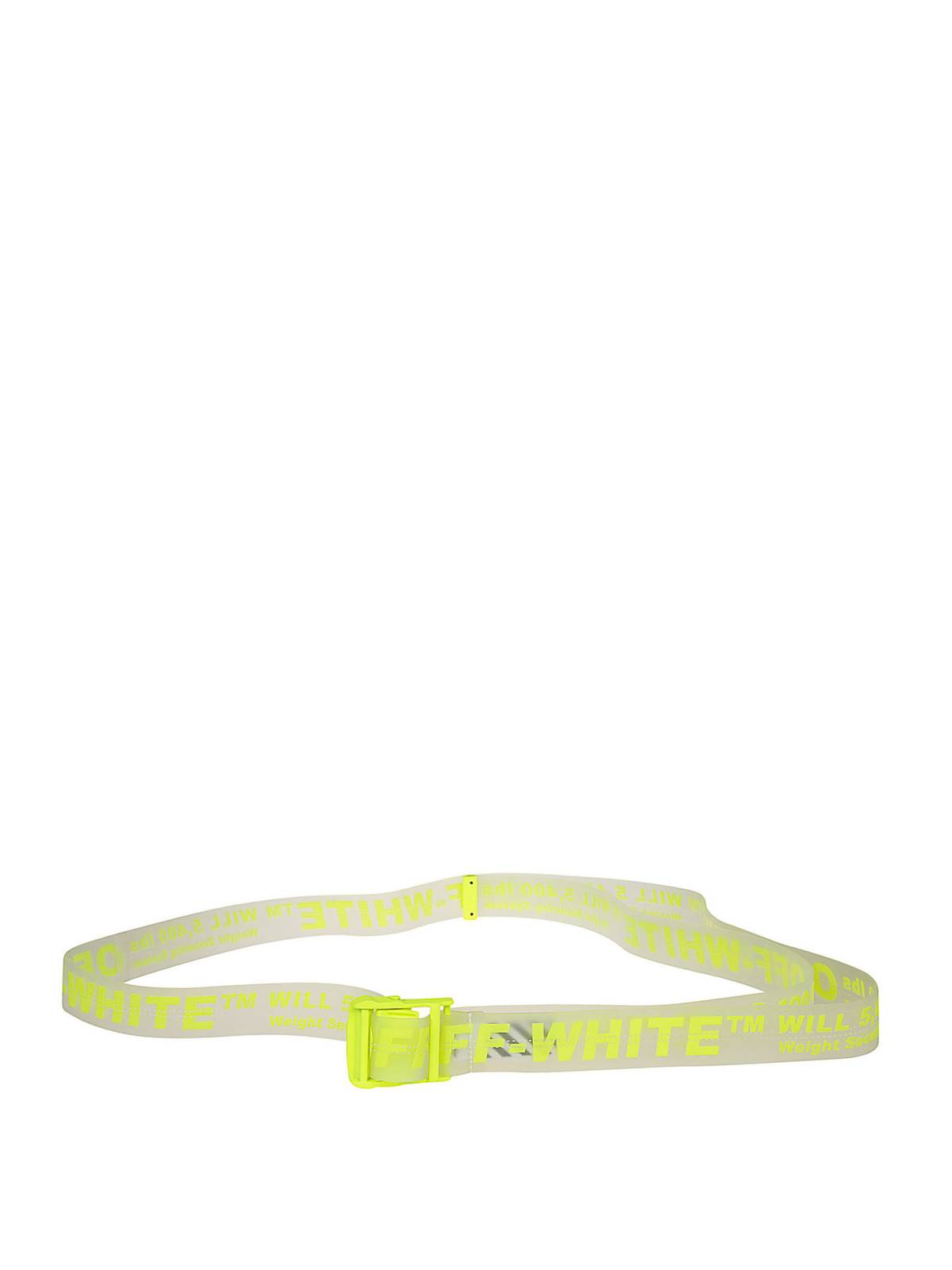 design di qualità 90697 de252 Off-White - Cintura Industrial in pvc giallo fluo - cinture ...