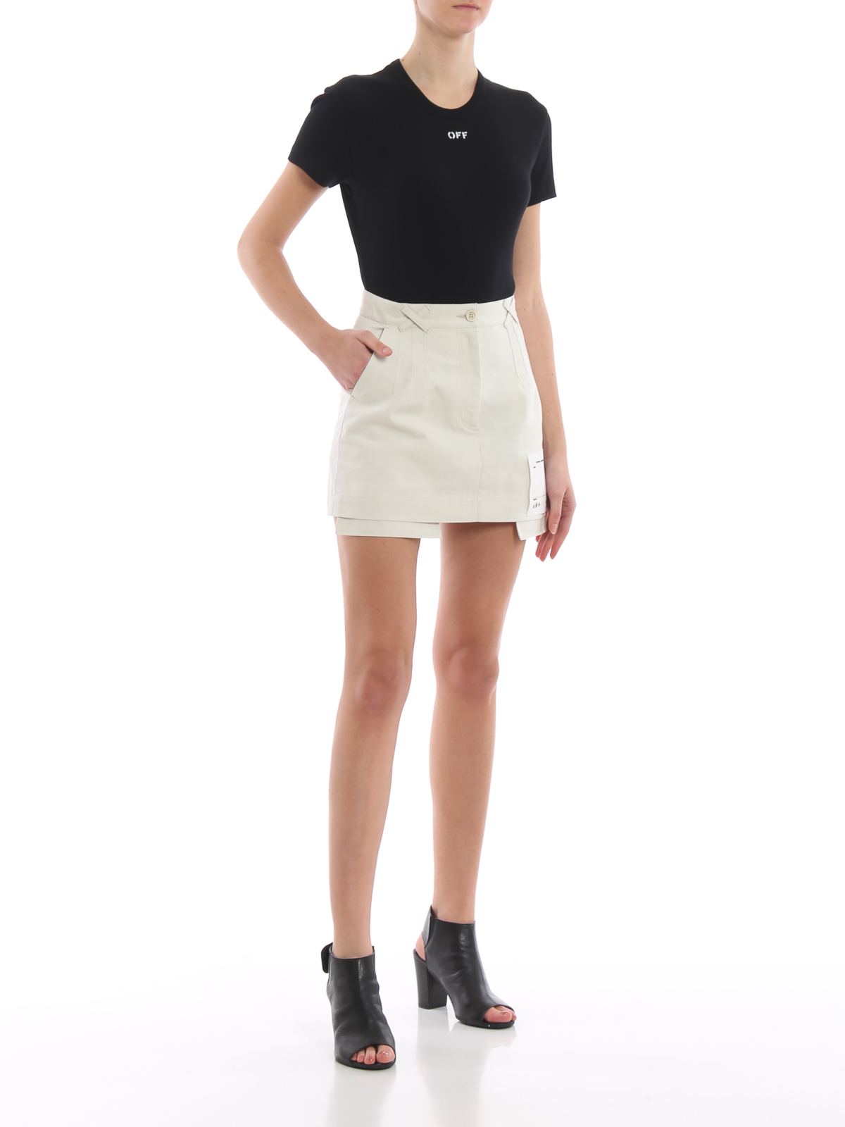 0eb831311 OFF-WHITE: mini skirts online - Cotton pockets out mini skirt