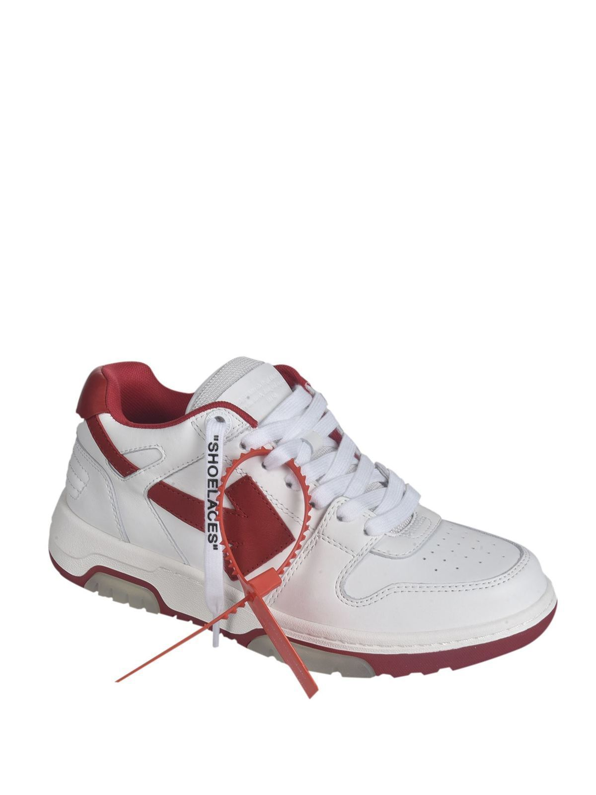 Office sneakers in white and red