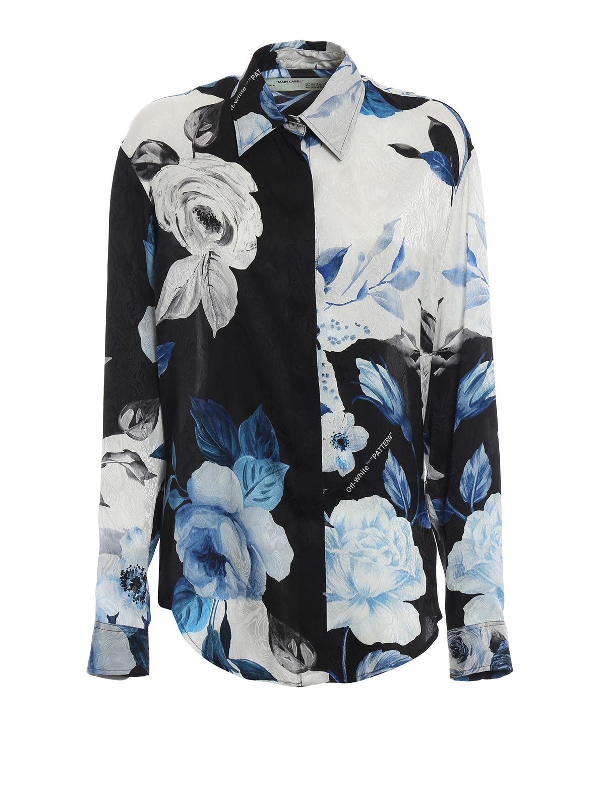 f1580e3a6dbc Off-White - Floral basic silk shirt - shirts - OWGA031F189510541099