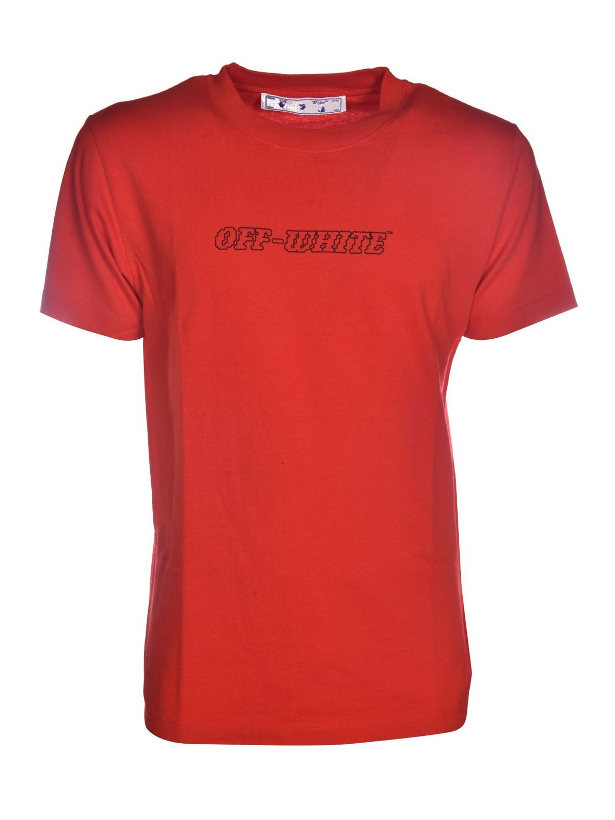 Off-White Cottons PASCAL T-SHIRT IN RED