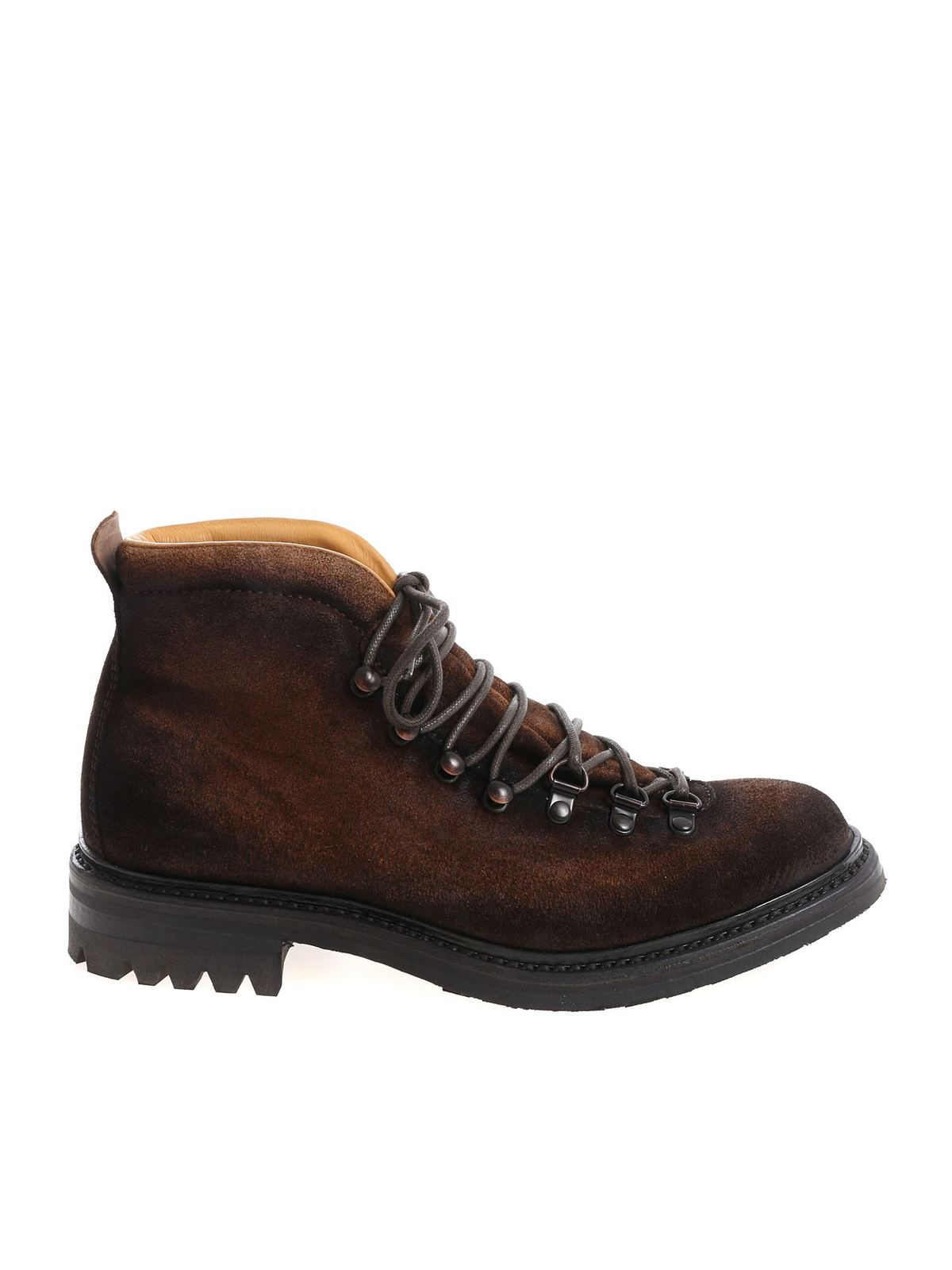 Officine Creative BROWN ALIX ANKLE BOOTS