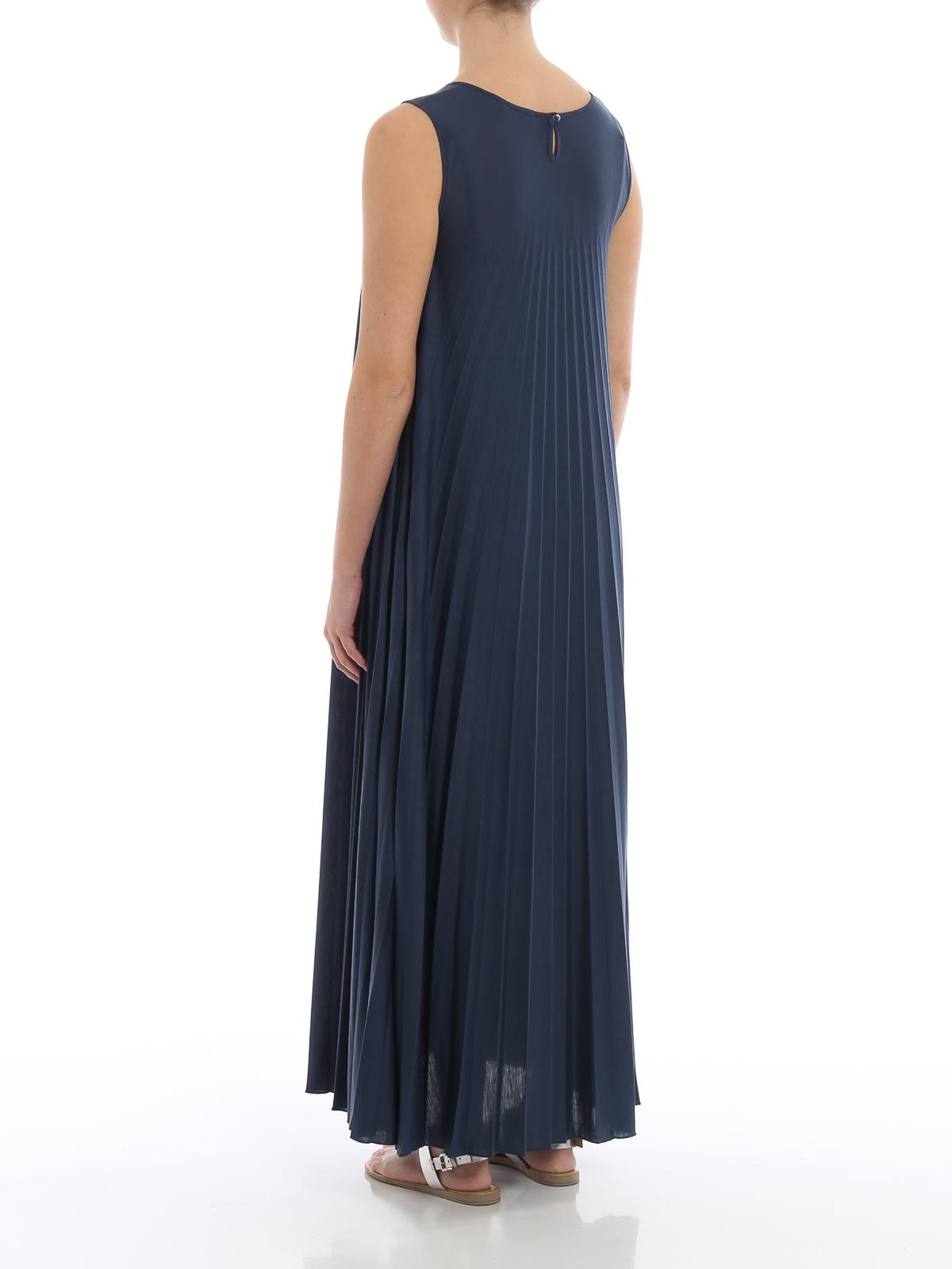 44a4d0de754c89 Weekend Max Mara - Oggetti blue jersey maxi dress - maxi dresses ...