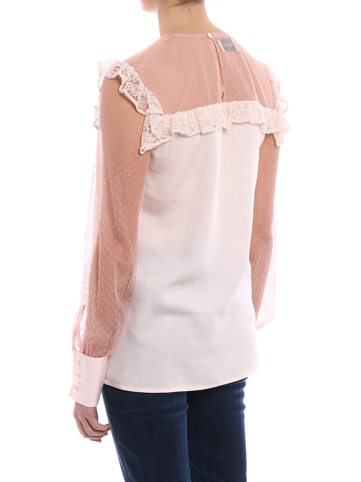 b67e9bedece6ae Dondup - Old lace style long sleeve blouse - blouses - C966ZF034DXXX510