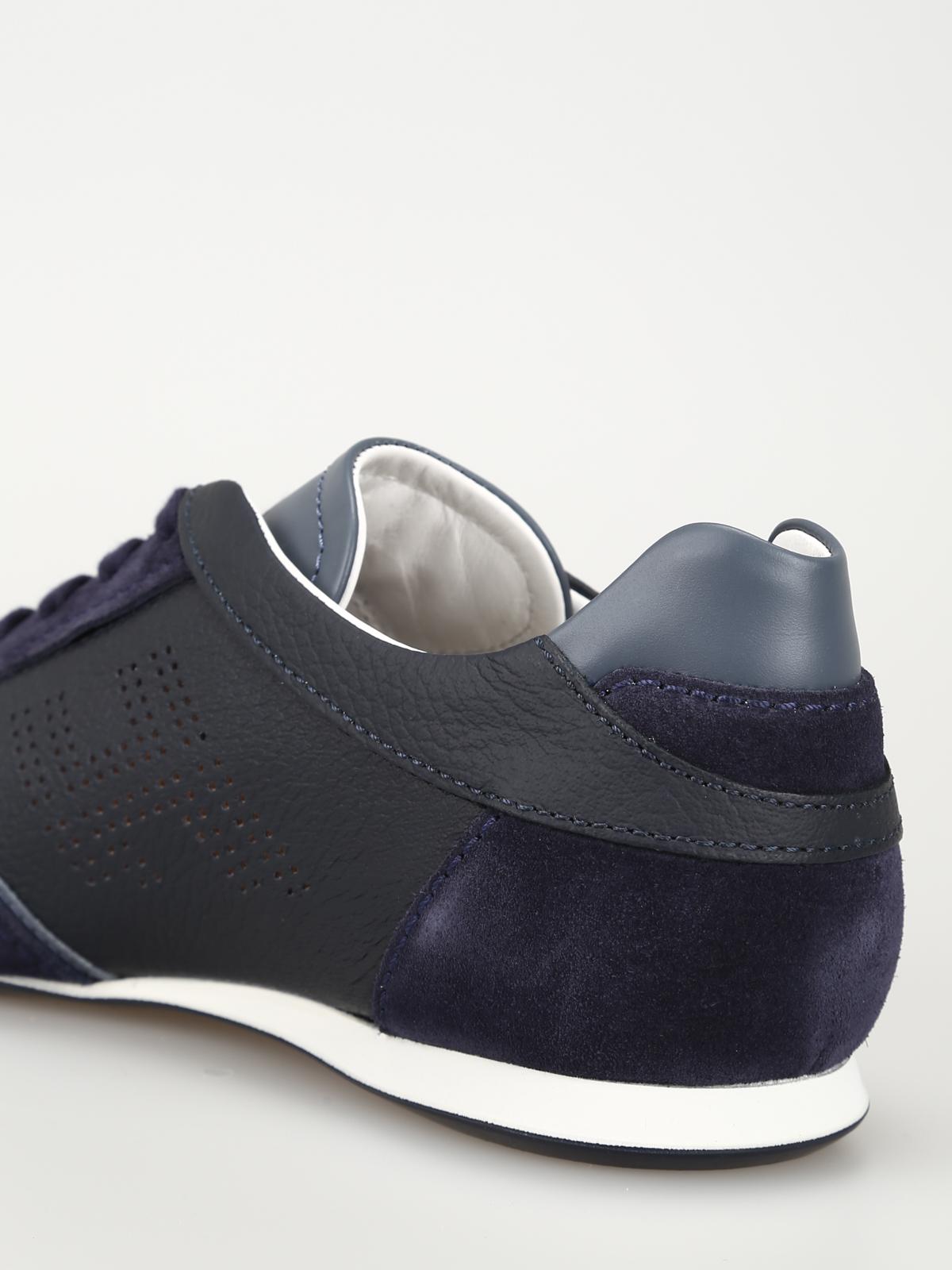 Hogan Sneaker Olympia Slash H forata blu scuro sneakers
