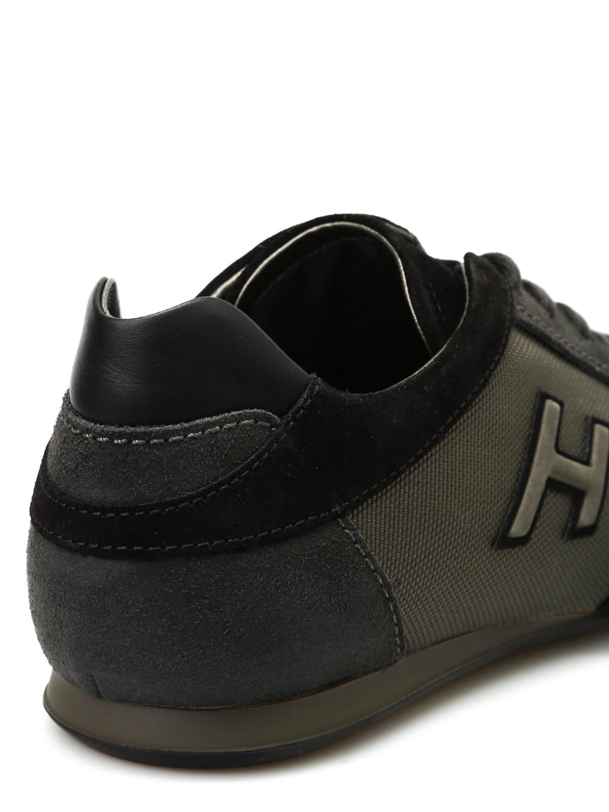 Trainers Hogan - Olympia slash H flock sneakers - HXM05701682E1M209V