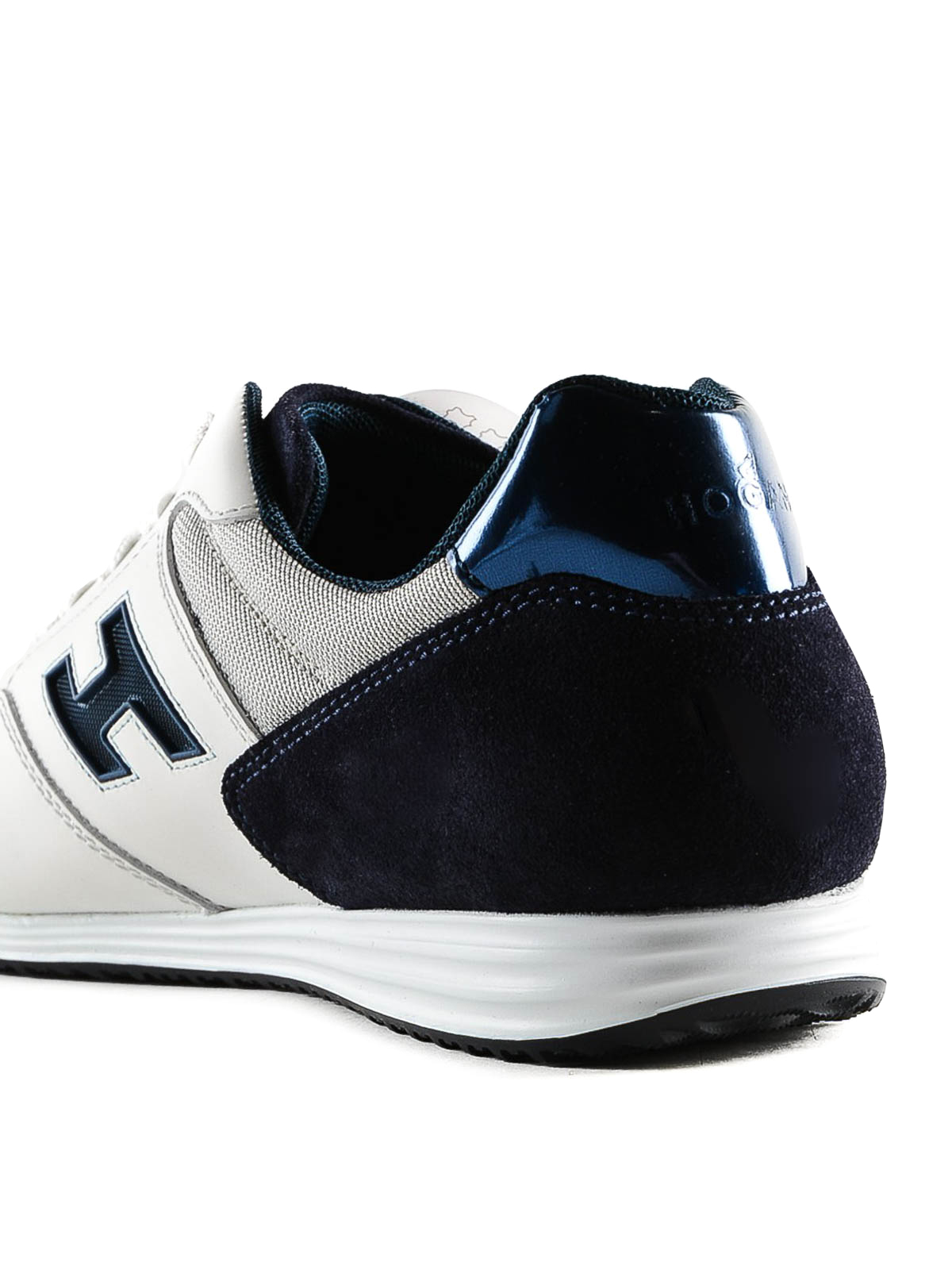 Sneakers Hogan - Sneaker Olympia X blu e bianca in pelle ...