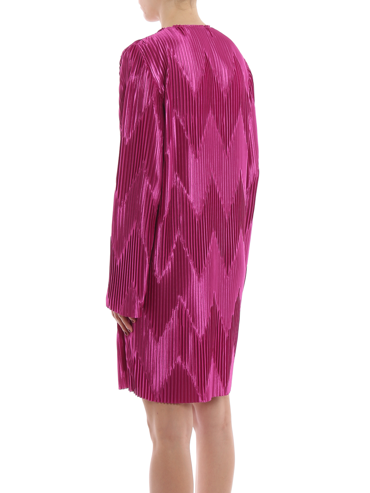Givenchy - Orchid purple chevron pleated jersey dress - cocktail ... d068cbea7df66
