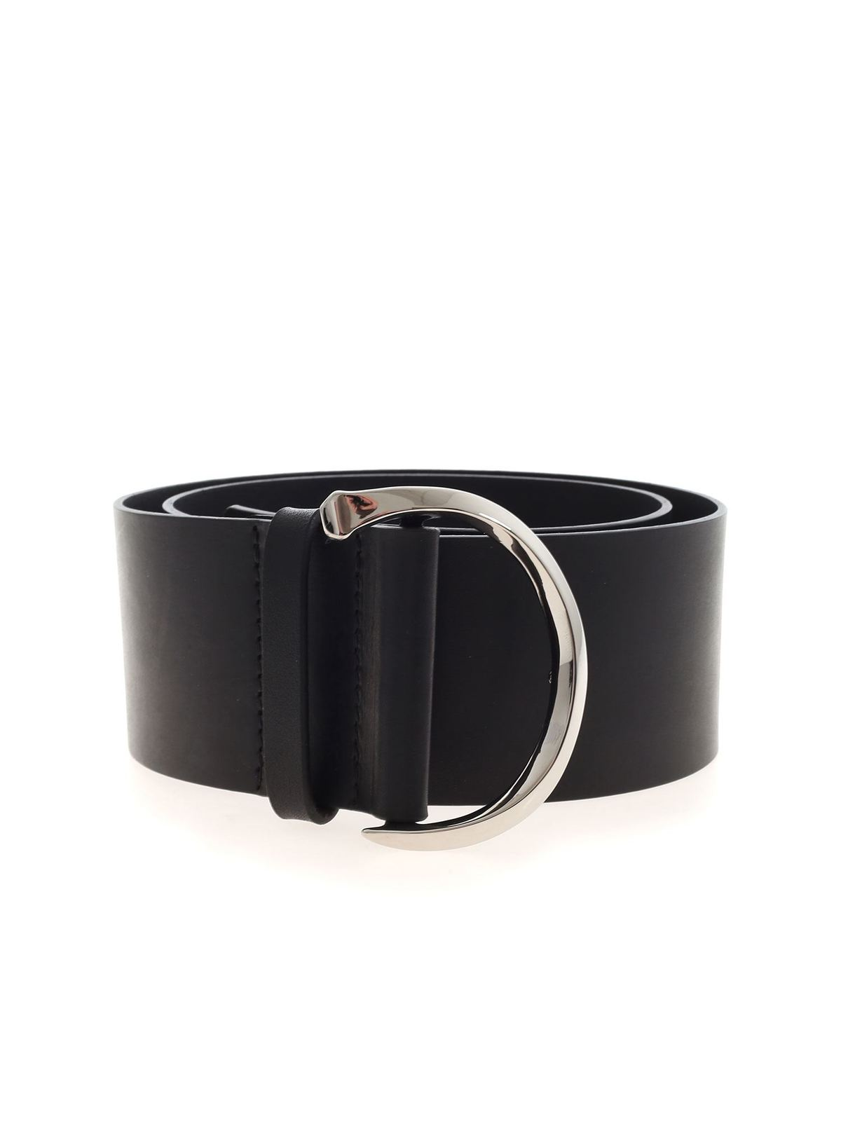 Orciani LEATHER BELT IN BLACK