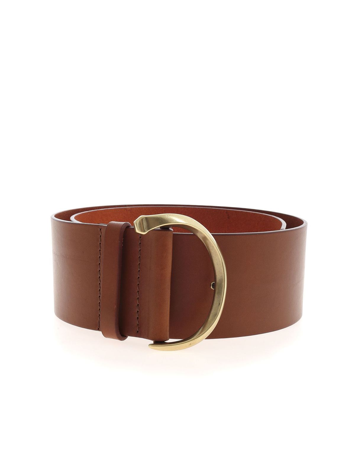 Orciani LEATHER BELT IN BROWN