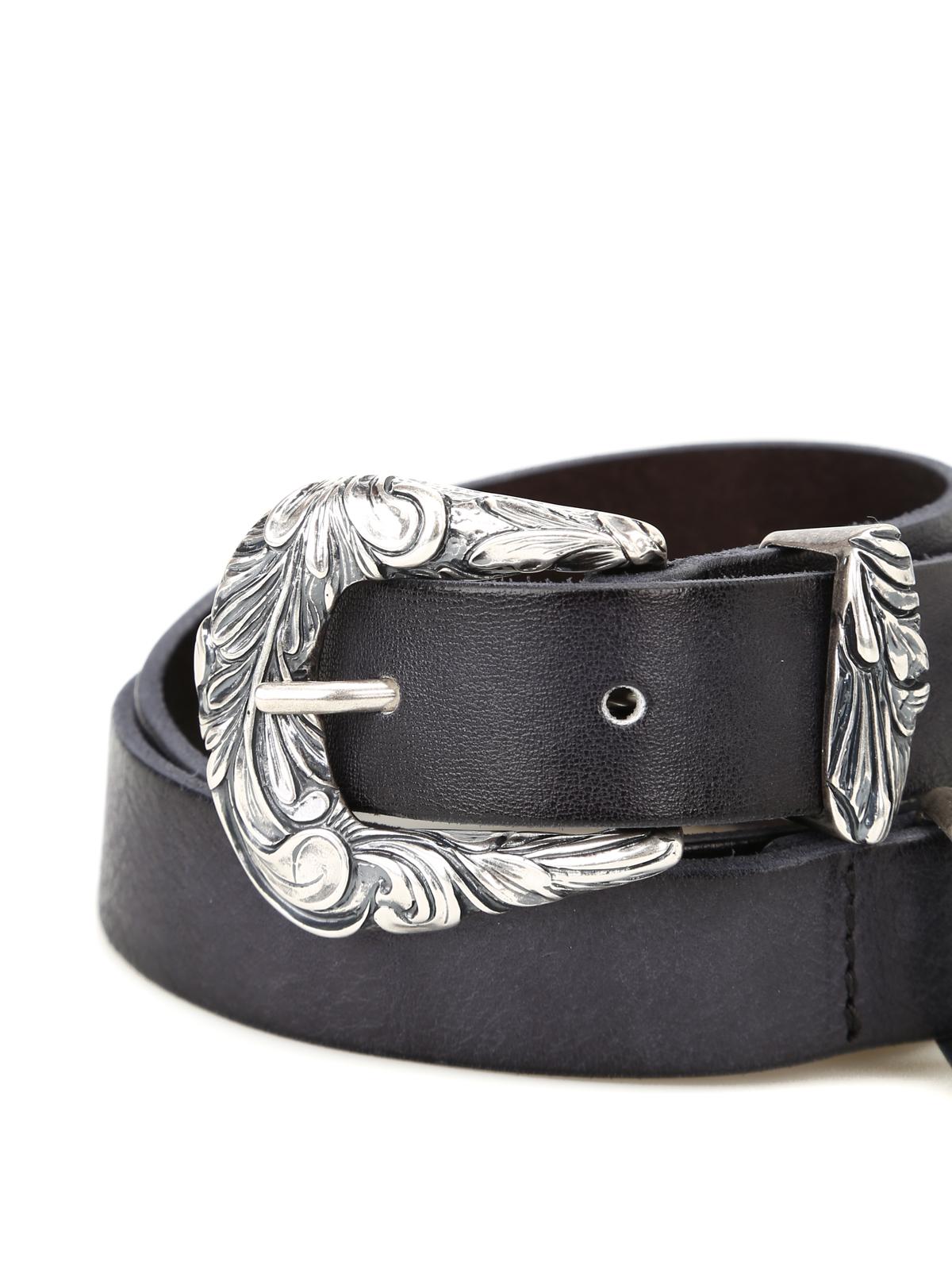 scarpe originali piuttosto fico materiali di alta qualità Orciani - Cintura in pelle con doppia fibbia - cinture ...