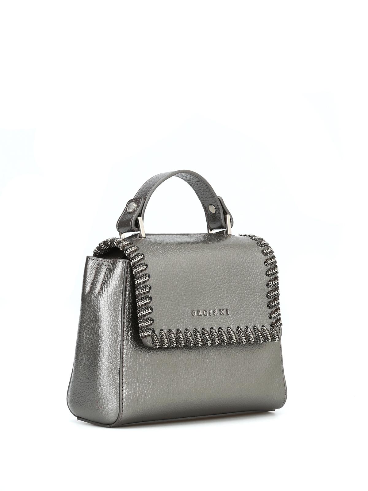 26f02e8950 ORCIANI: borse a tracolla online - Borsa Sveva Mini con catena sulla patta