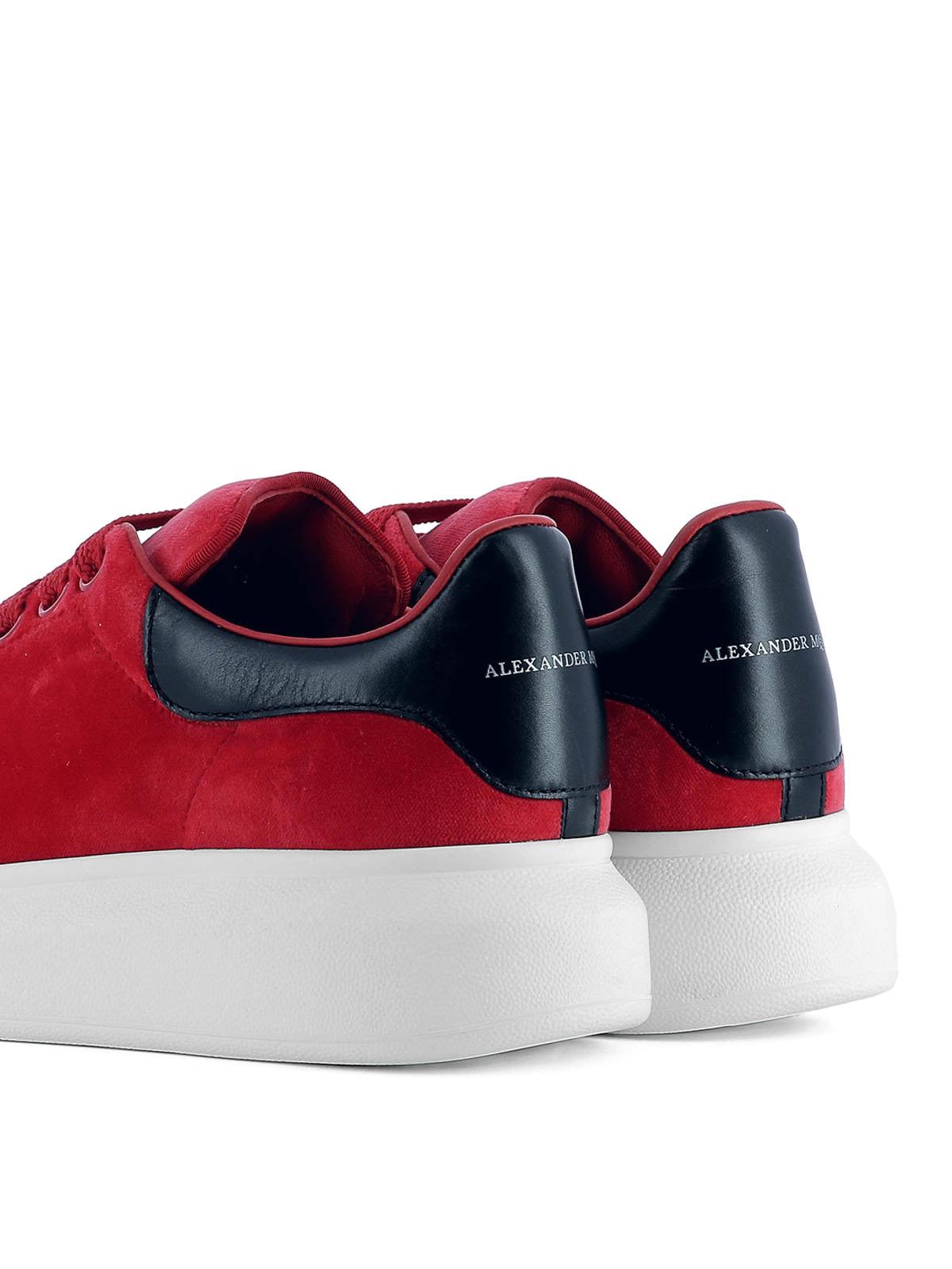 760593618772 Alexander Mcqueen - Oversize red velvet sneakers - trainers ...