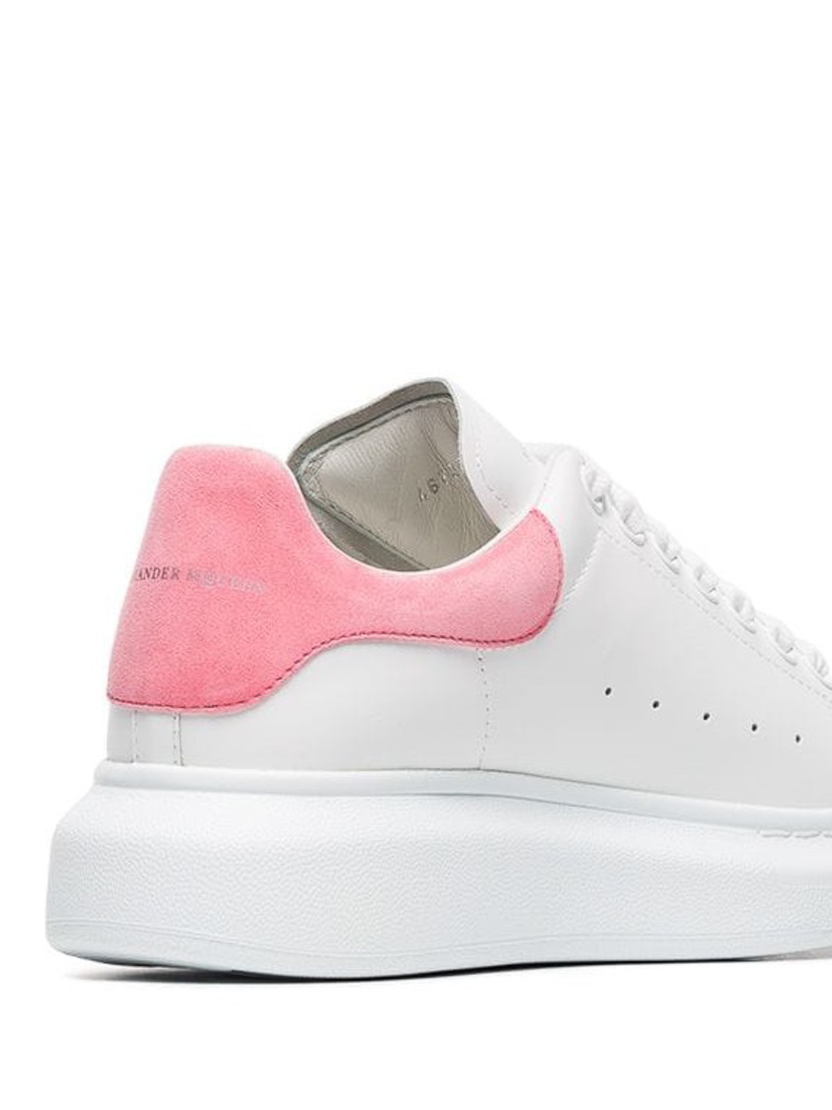 Alexander Mcqueen - Oversized pink back white sneakers ...