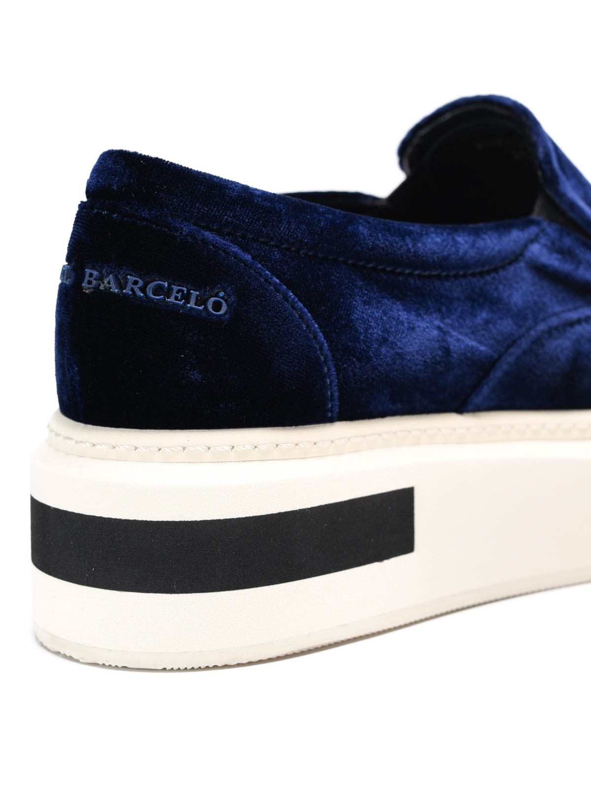new product ff3ca 7a536 Manuel Barcelo' - Oxford velvet slip-ons - trainers - SSLB VEBL