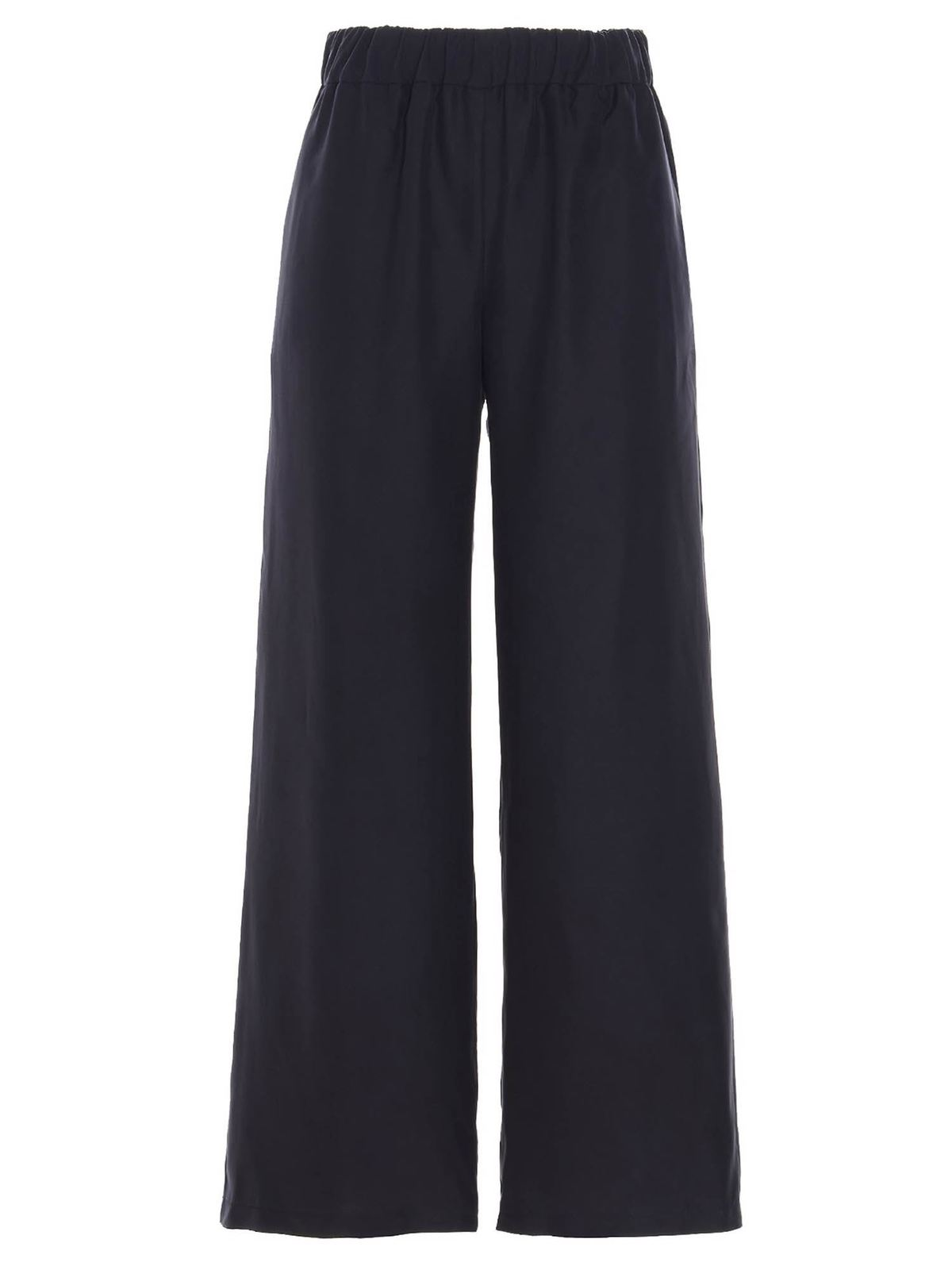 P.a.r.o.s.h. Pants SILK TROUSERS IN BLUE