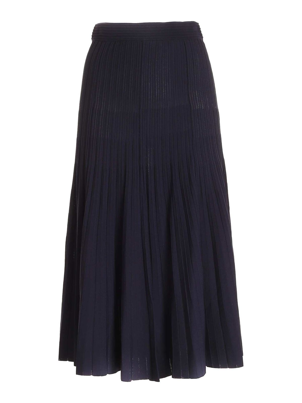 P.a.r.o.s.h. PLEATED SKIRT IN BLUE