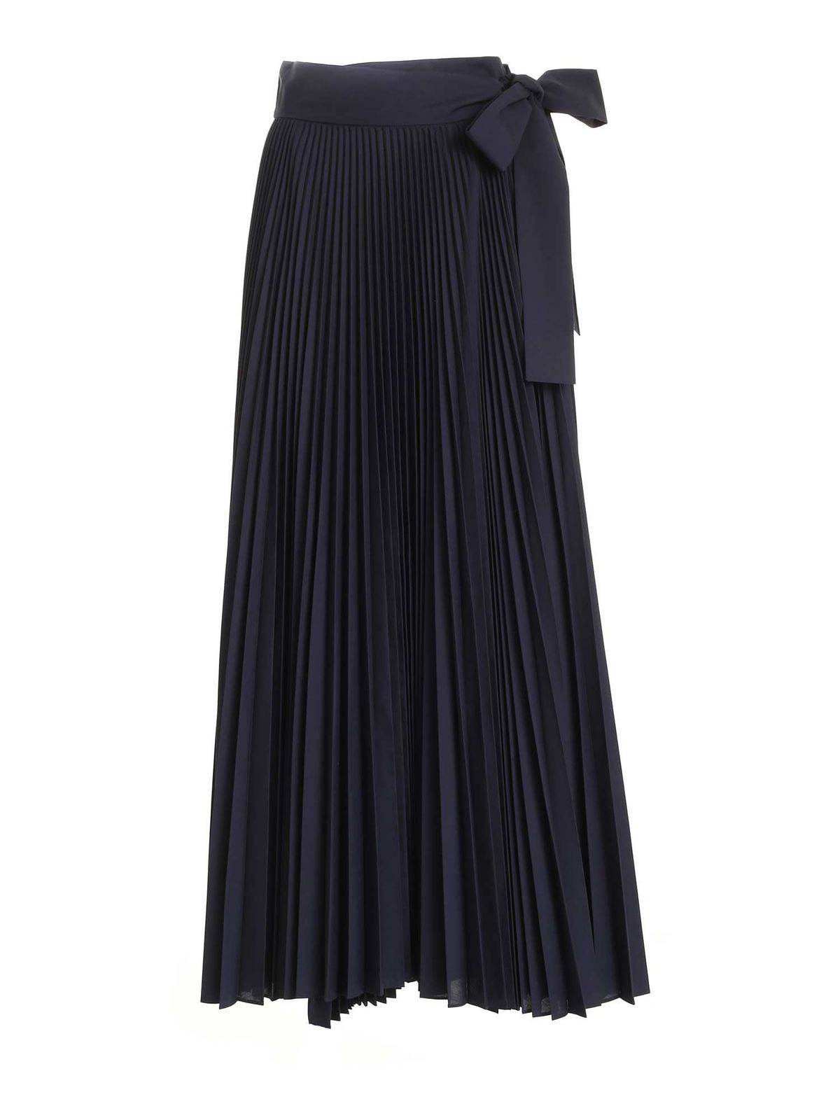 P.a.r.o.s.h. WRAP PLEATED SKIRT IN BLUE