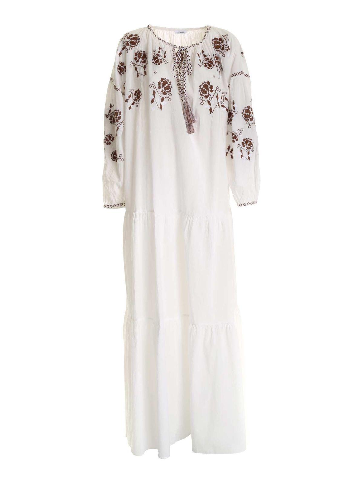P.a.r.o.s.h. CROSS STITCH EMBROIDERY DRESS IN WHITE