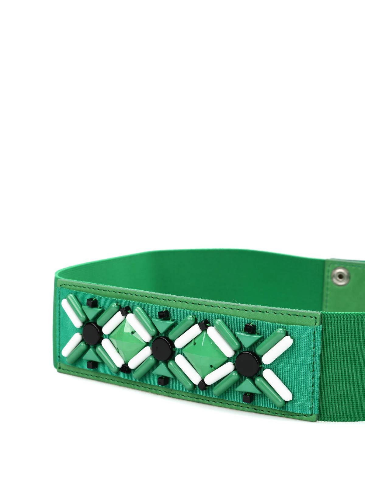 comprar online 24c4a 44703 P.A.R.O.S.H. - Cinturón Verde Para Mujer - Cinturones ...