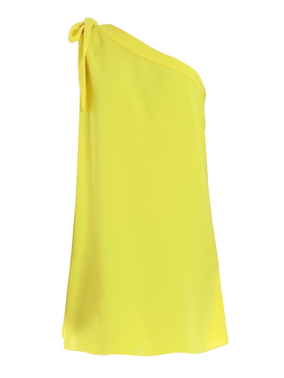 check out 465fb c6a10 P.A.R.O.S.H. - Abito monospalla giallo Pantery - abiti corti ...