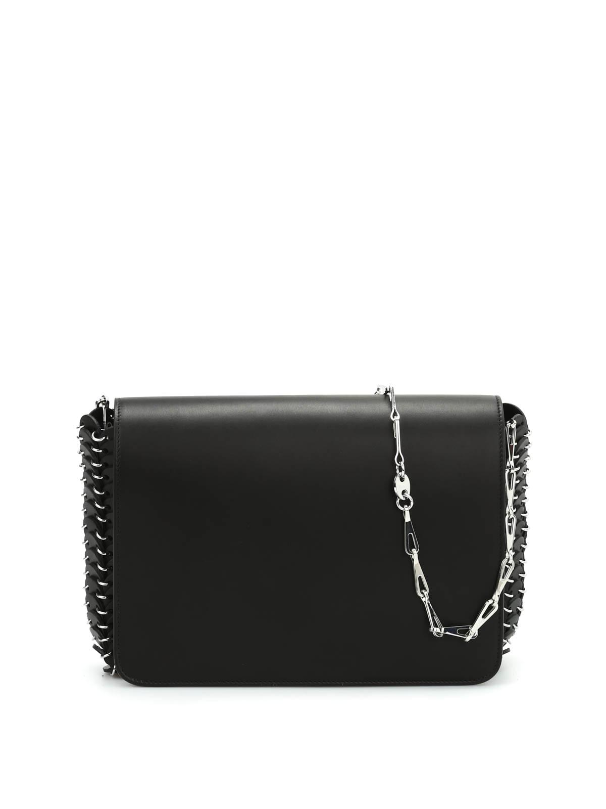 60b42322fc6d Paco Rabanne - Leather discs Shoulder bag - shoulder bags ...