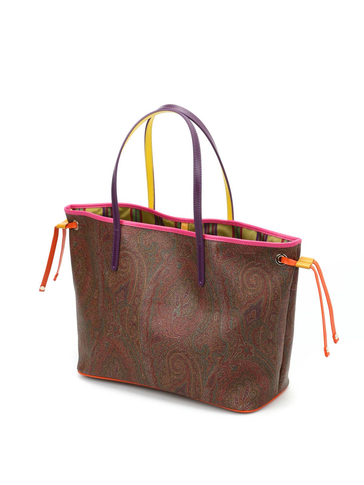 Etro 1310 Bolsos Bolso 601 Shopping 0b374 Tote Multicolor Pn08kwO